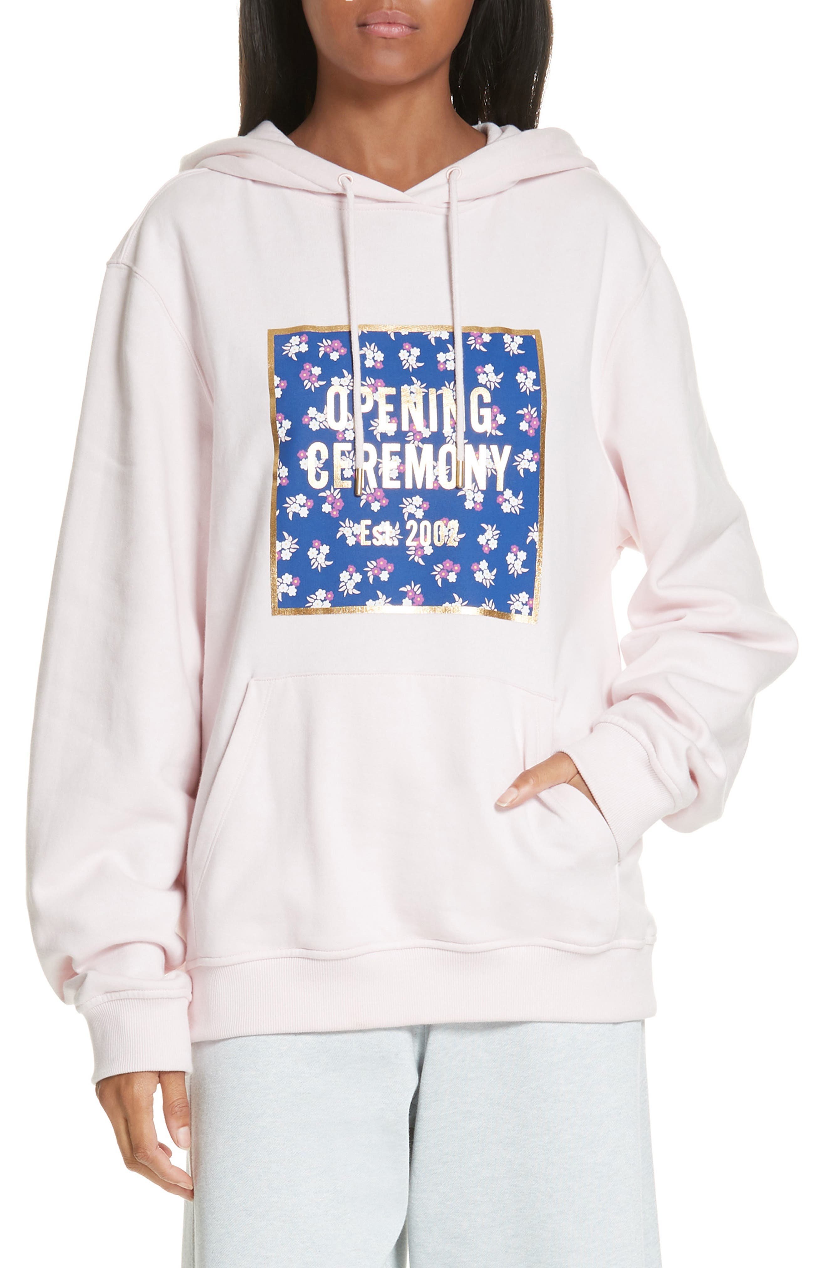 Floral Box Logo Hoodie by Opening Ceremony