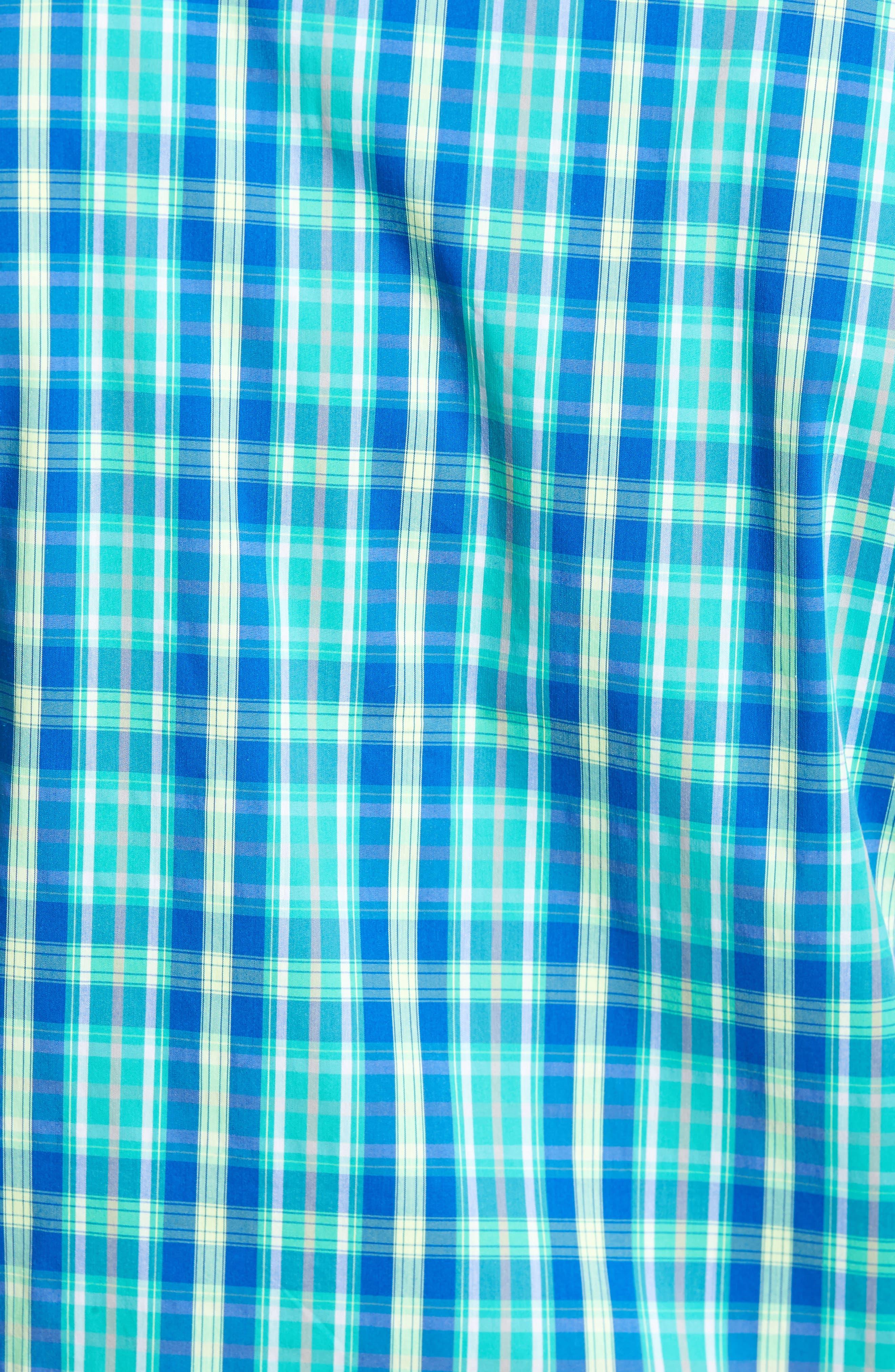 Carter Plaid Performance Sport Shirt,                             Alternate thumbnail 5, color,                             752