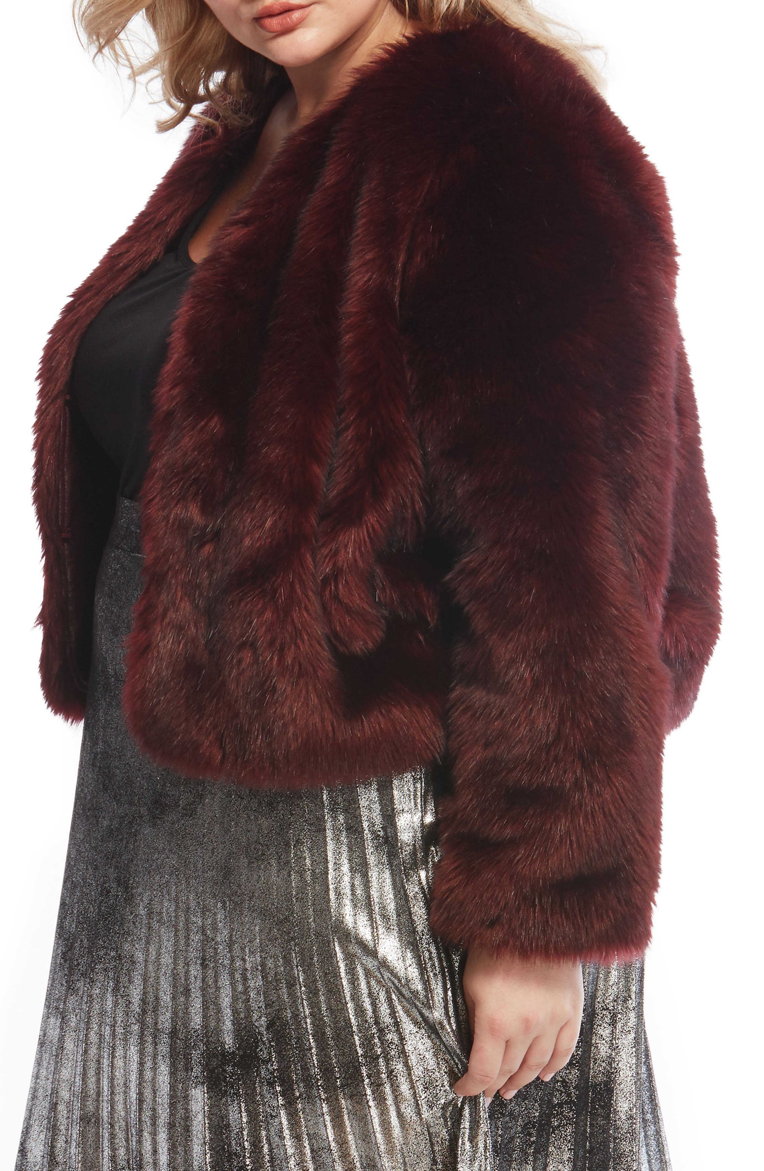 Faux Fur Jacket,                             Alternate thumbnail 8, color,