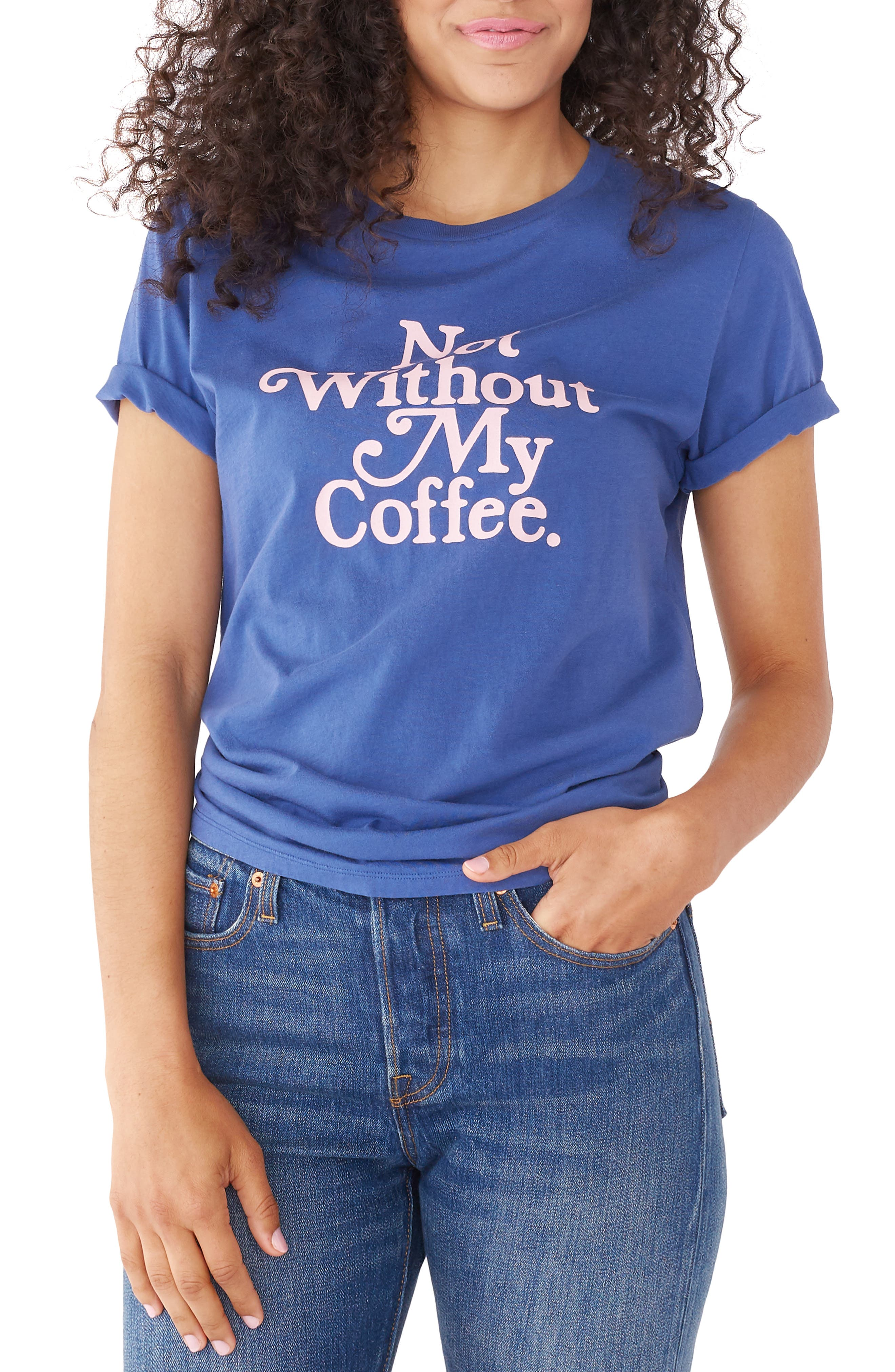 BAN.DO,                             Not Without My Coffee Classic Tee,                             Main thumbnail 1, color,                             NAVY