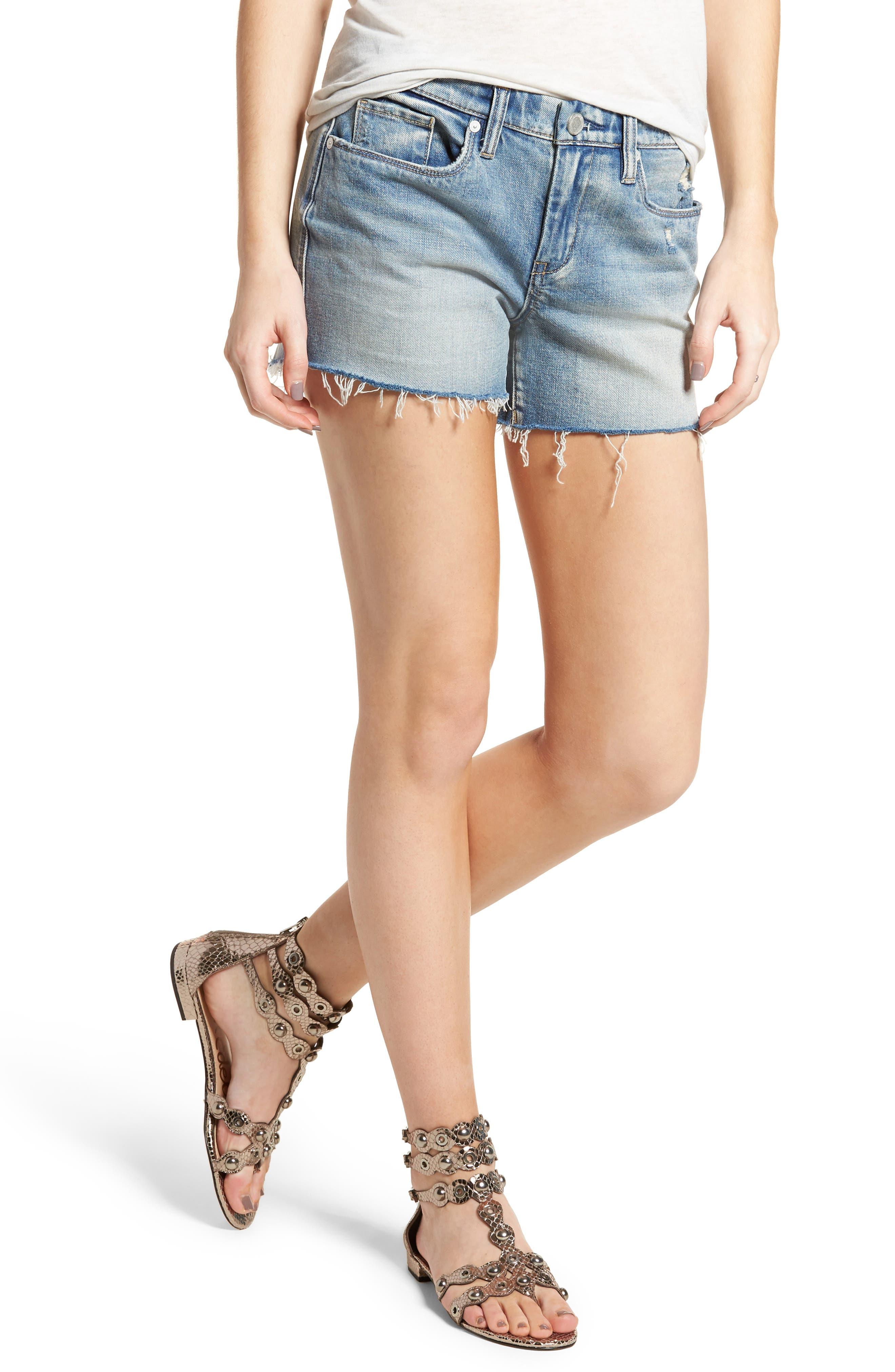 The Essex Cutoff Denim Shorts,                         Main,                         color,