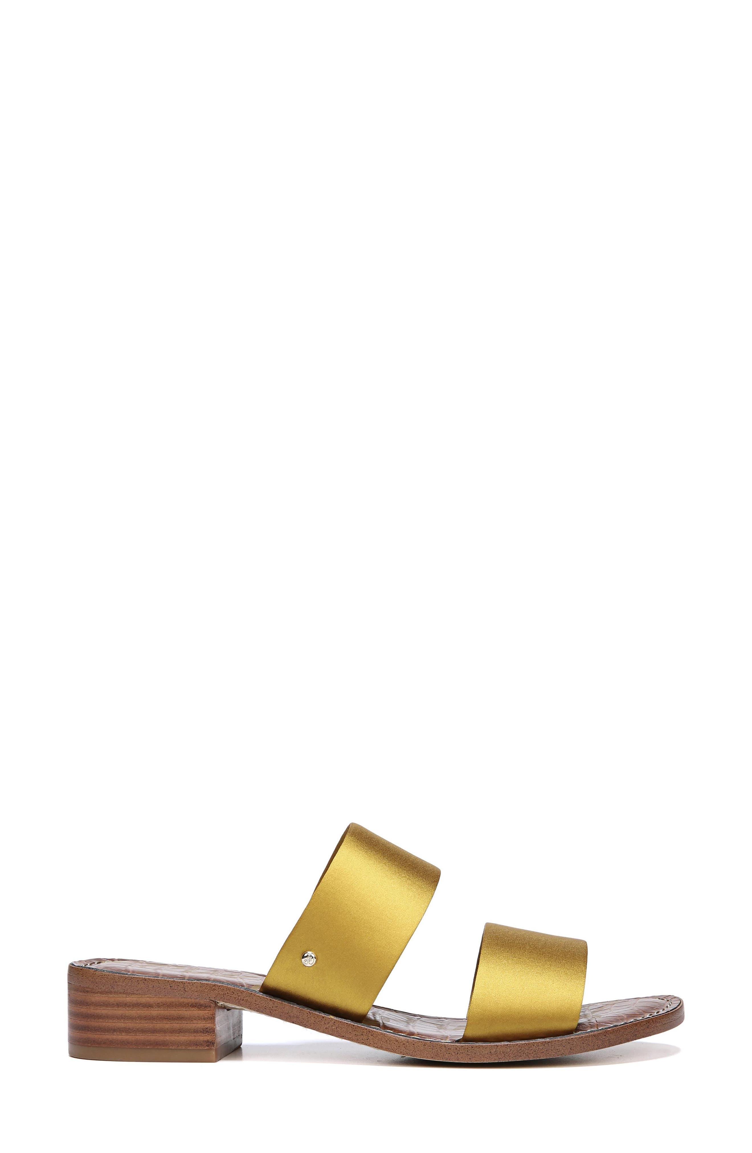 Jeni Sandal,                             Alternate thumbnail 3, color,                             TUSCAN YELLOW SATIN