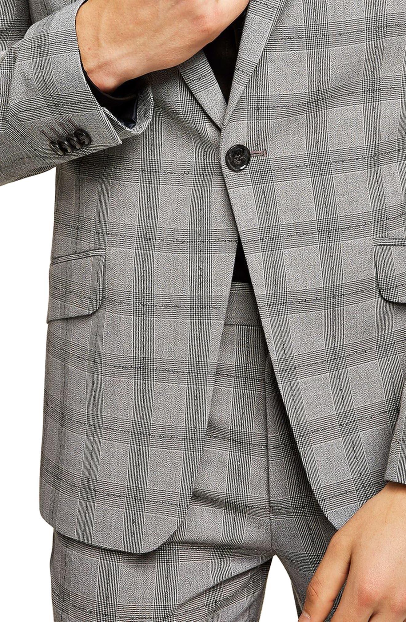 Check Suit Jacket,                             Alternate thumbnail 3, color,                             001
