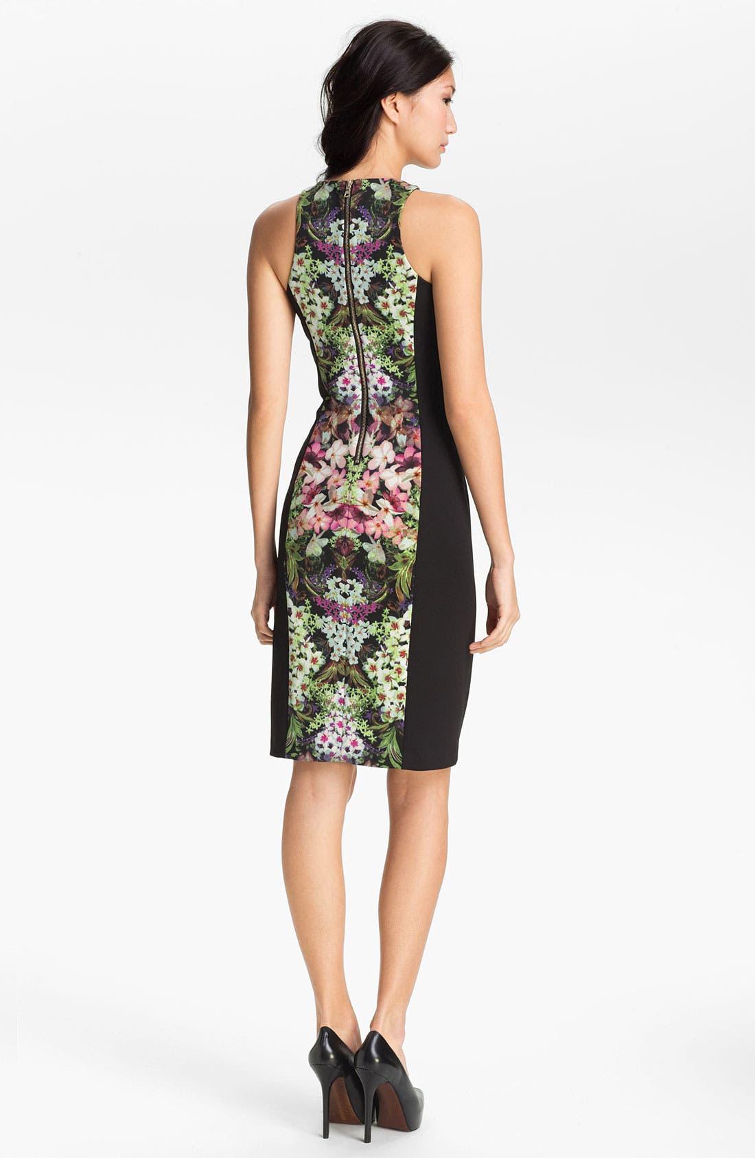 Print Sheath Dress,                             Alternate thumbnail 3, color,                             013