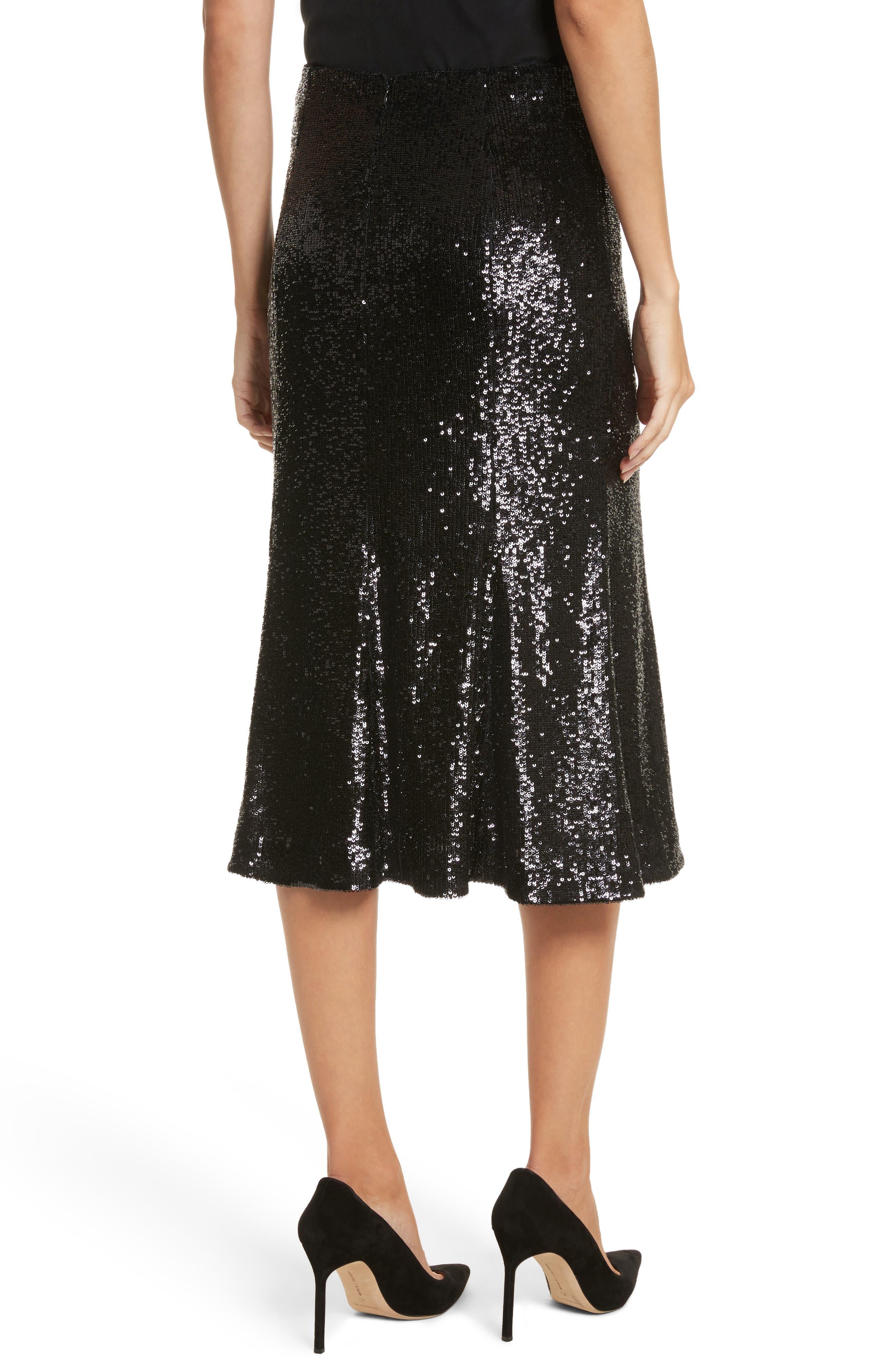 Braxton Sequin Skirt,                             Alternate thumbnail 2, color,                             001