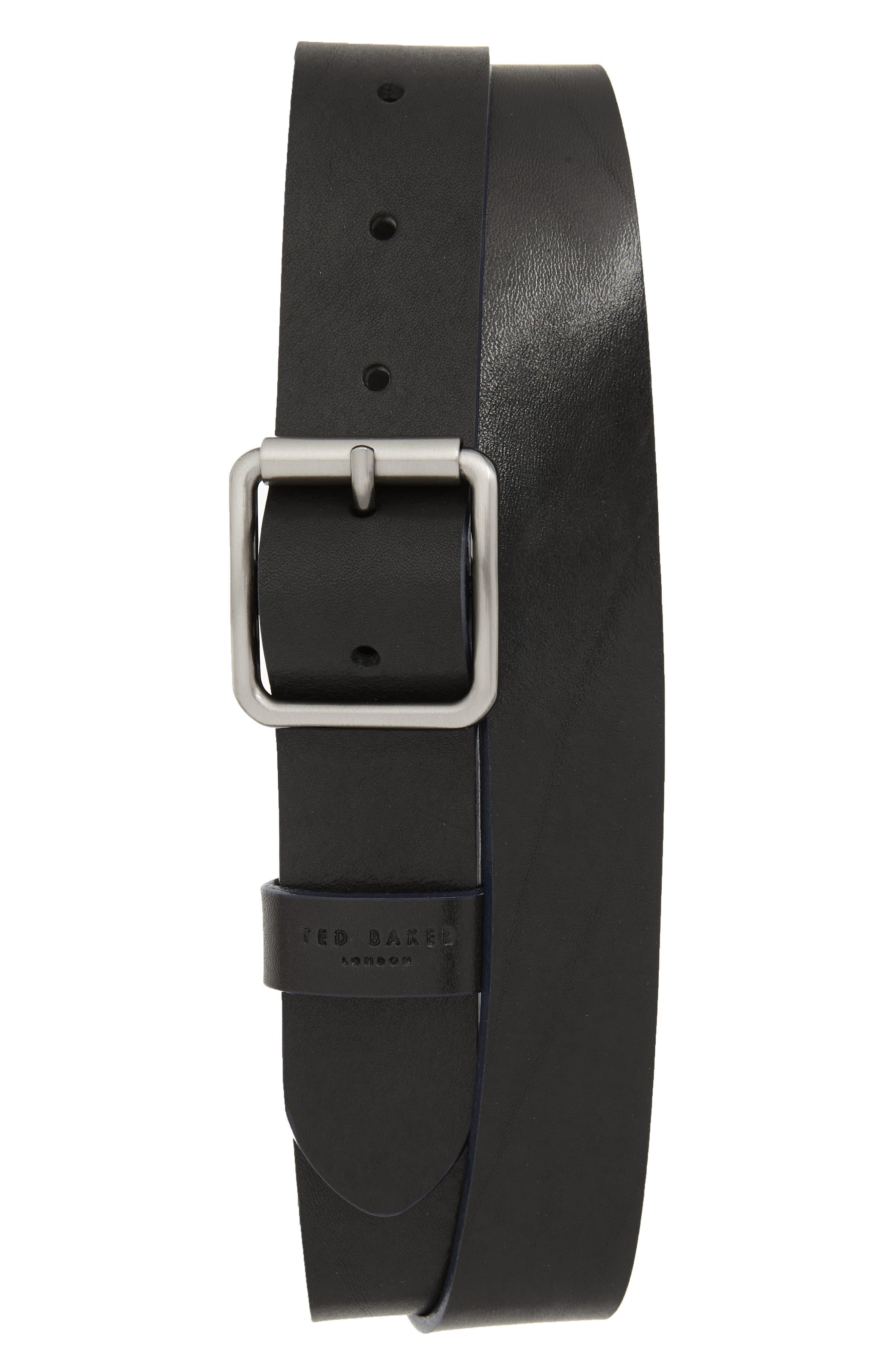 Ted Baker London Leather Belt, Black