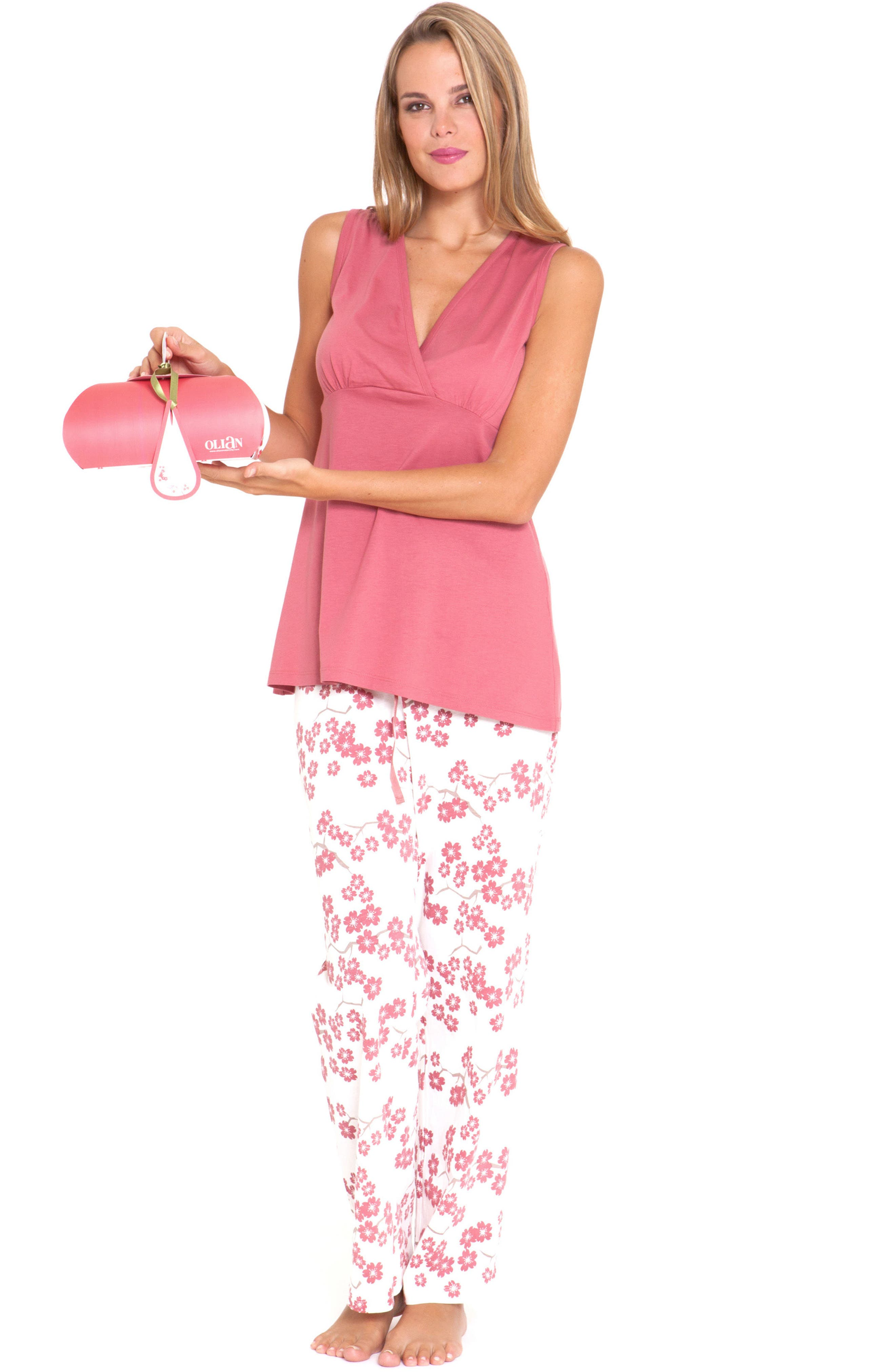 4-Piece Maternity Sleepwear Gift Set,                             Alternate thumbnail 3, color,                             664