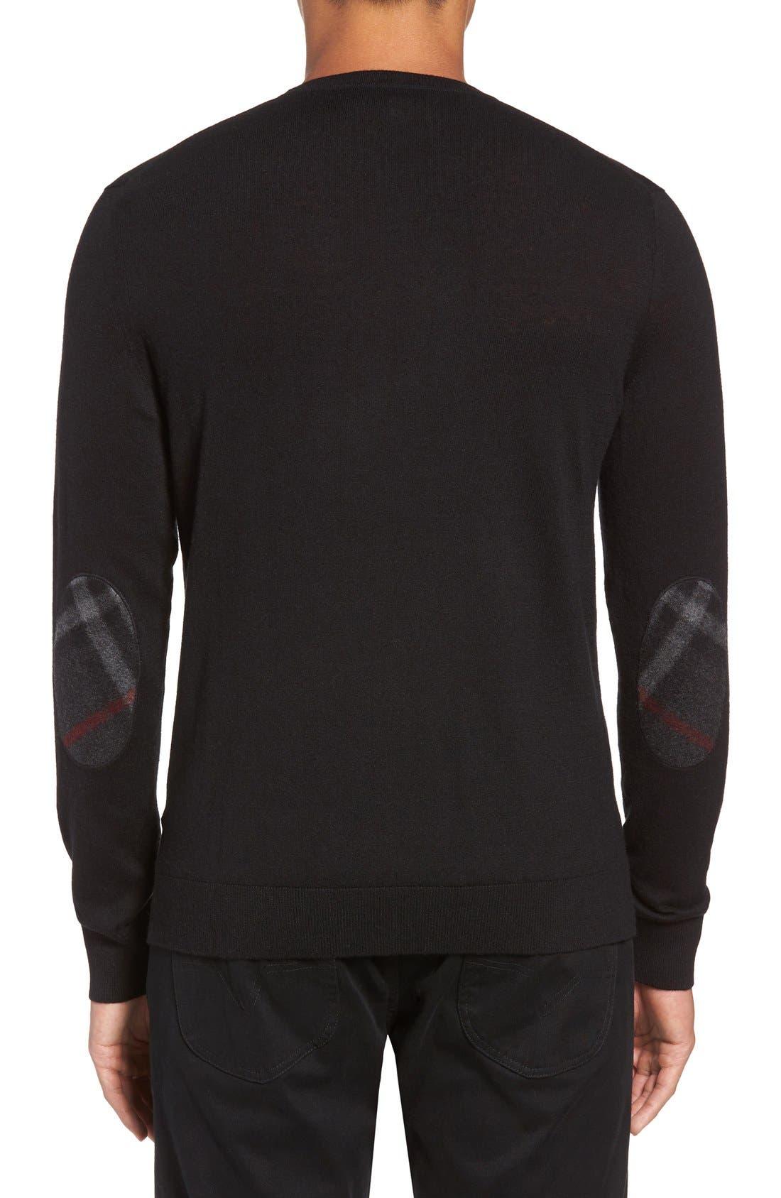 Brit Richmond Cotton & Cashmere Sweater,                             Alternate thumbnail 2, color,                             001