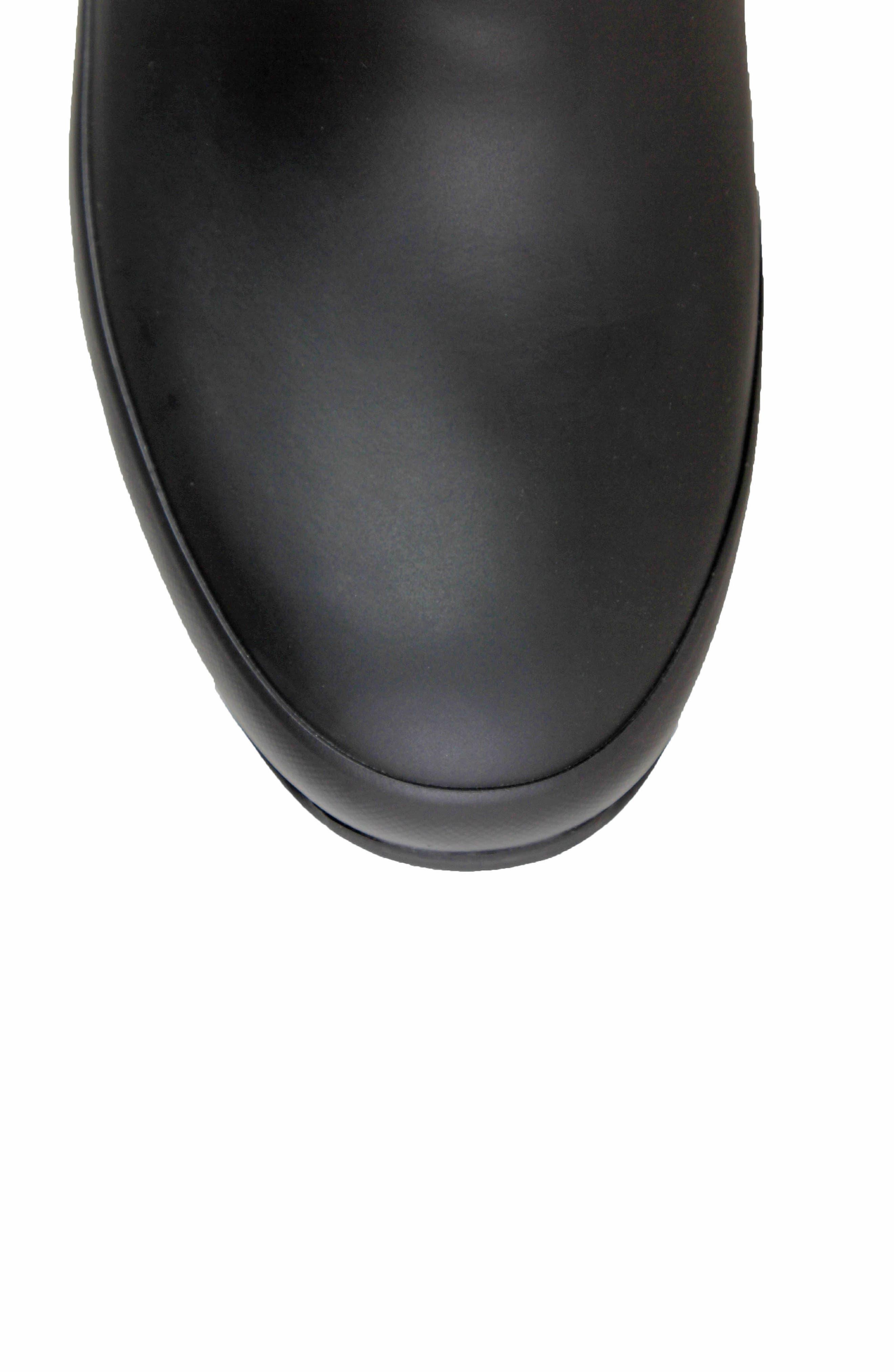 Amanda Plush Waterproof Rain Boot,                             Alternate thumbnail 5, color,                             BLACK