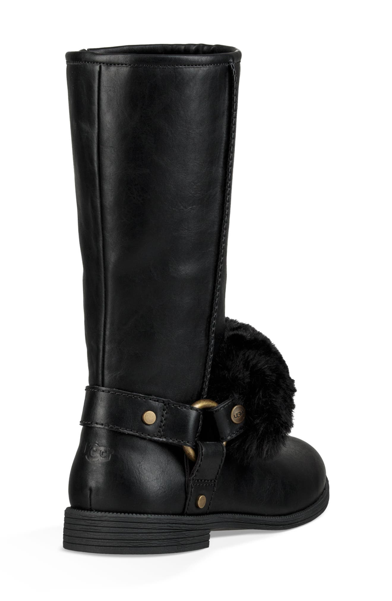 Lili Faux Shearling Boot,                             Alternate thumbnail 2, color,                             BLACK