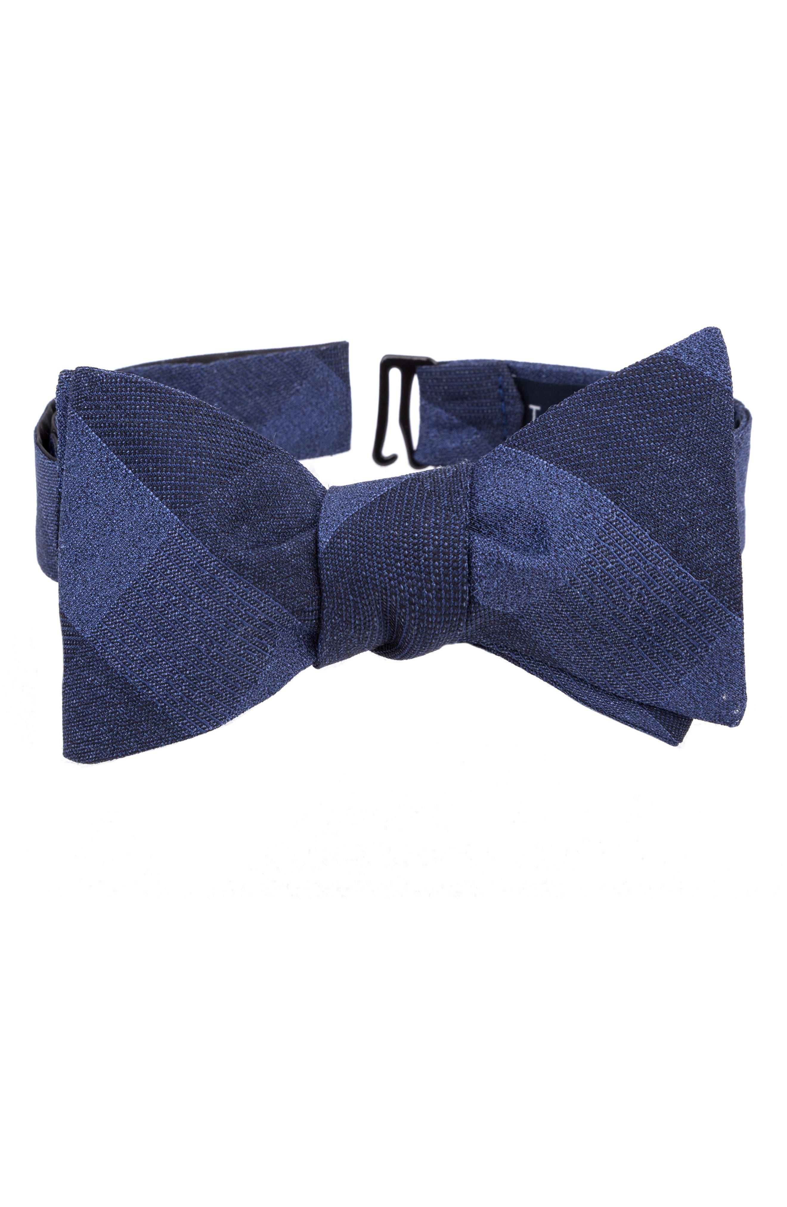 Indigo Wardrobe Silk Bow Tie,                             Main thumbnail 1, color,                             430