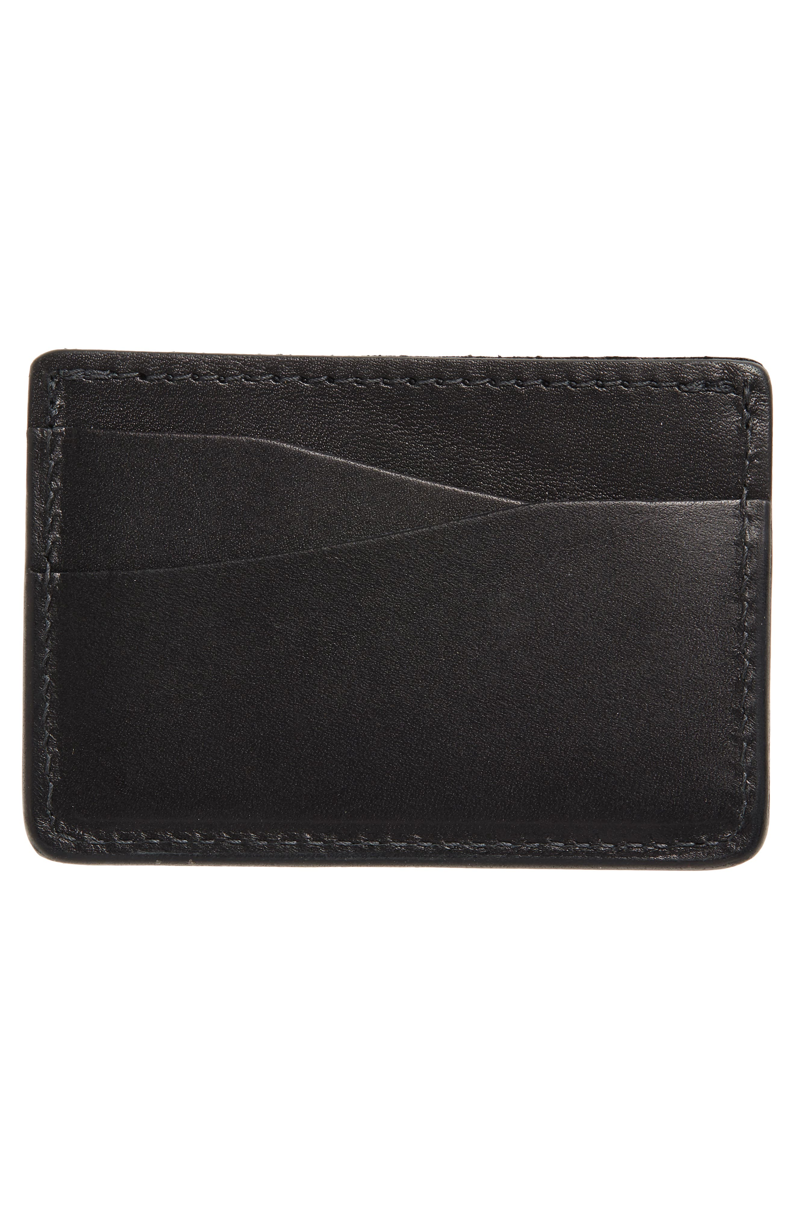Journeyman Leather Card Case,                             Alternate thumbnail 2, color,                             BLACK