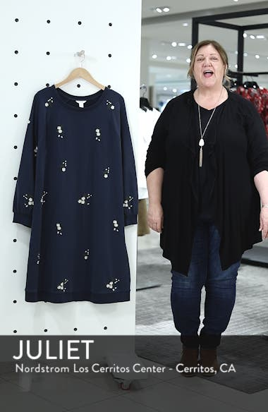 Embroidered Fleece Knit Dress, sales video thumbnail