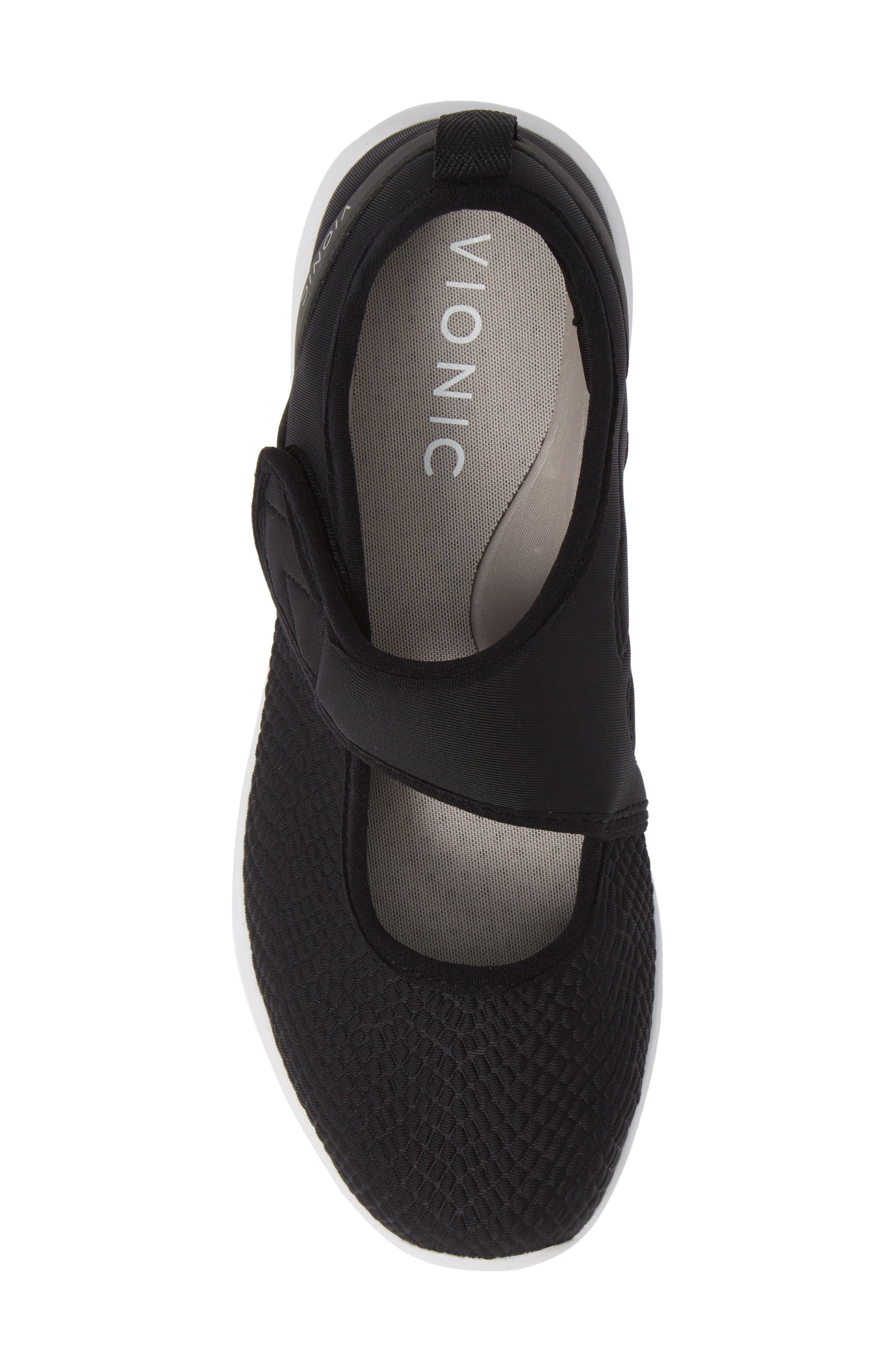 Sonnet Sneaker,                             Alternate thumbnail 5, color,                             BLACK FABRIC