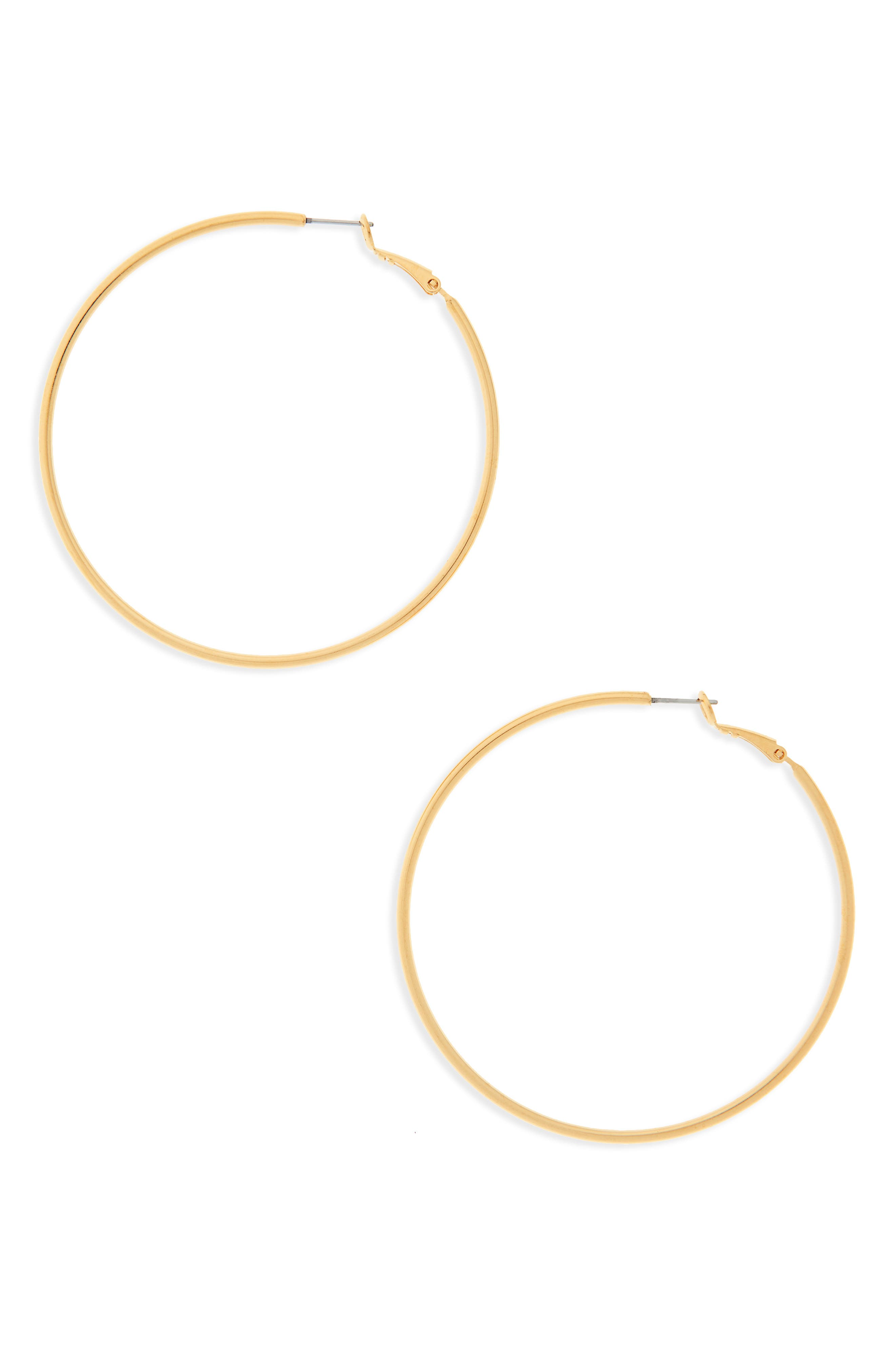 CAM Large Hoops in Gold