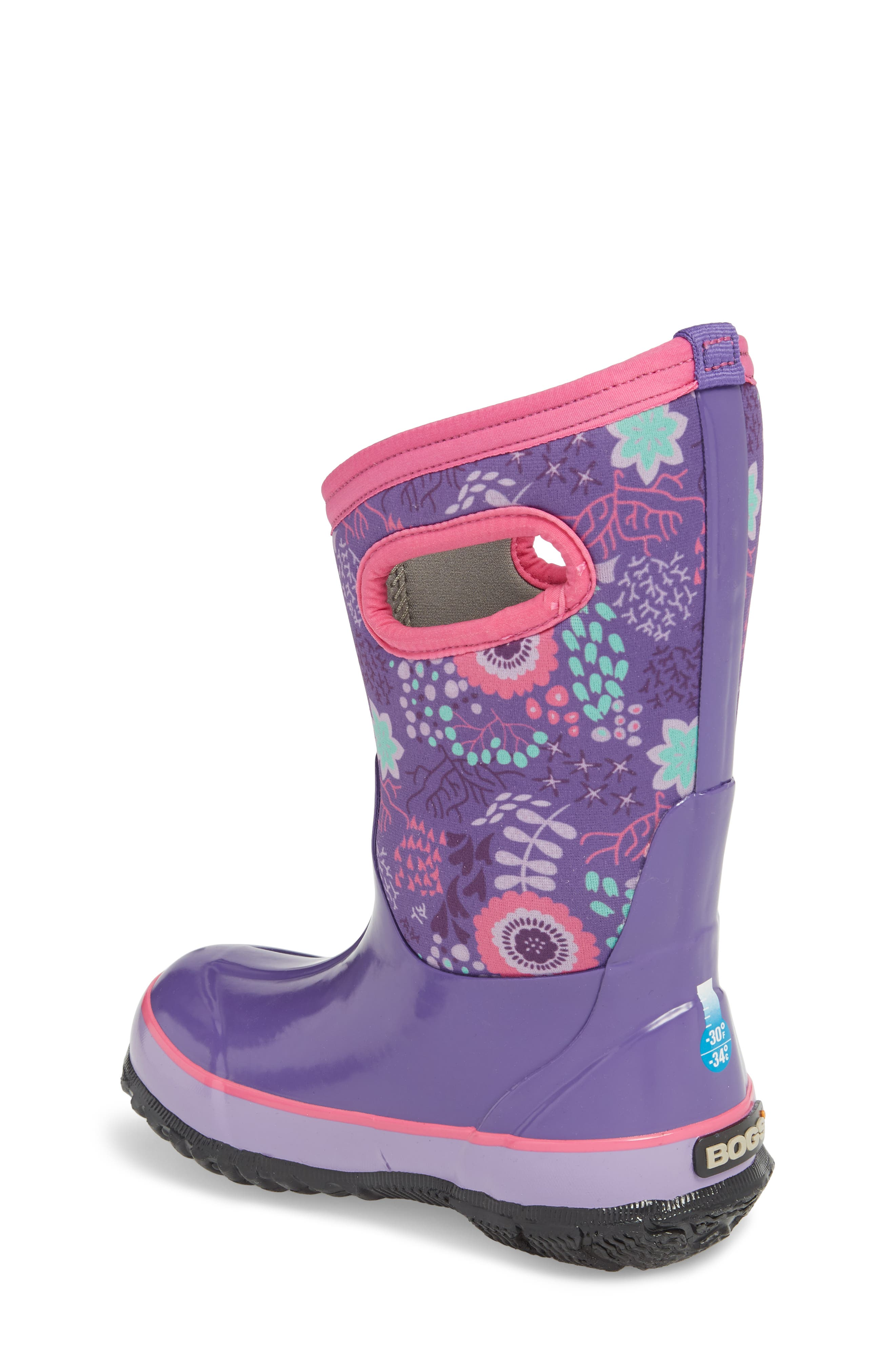 BOGS,                             Classic Reef Insulated Print Waterproof Boot,                             Alternate thumbnail 2, color,                             540