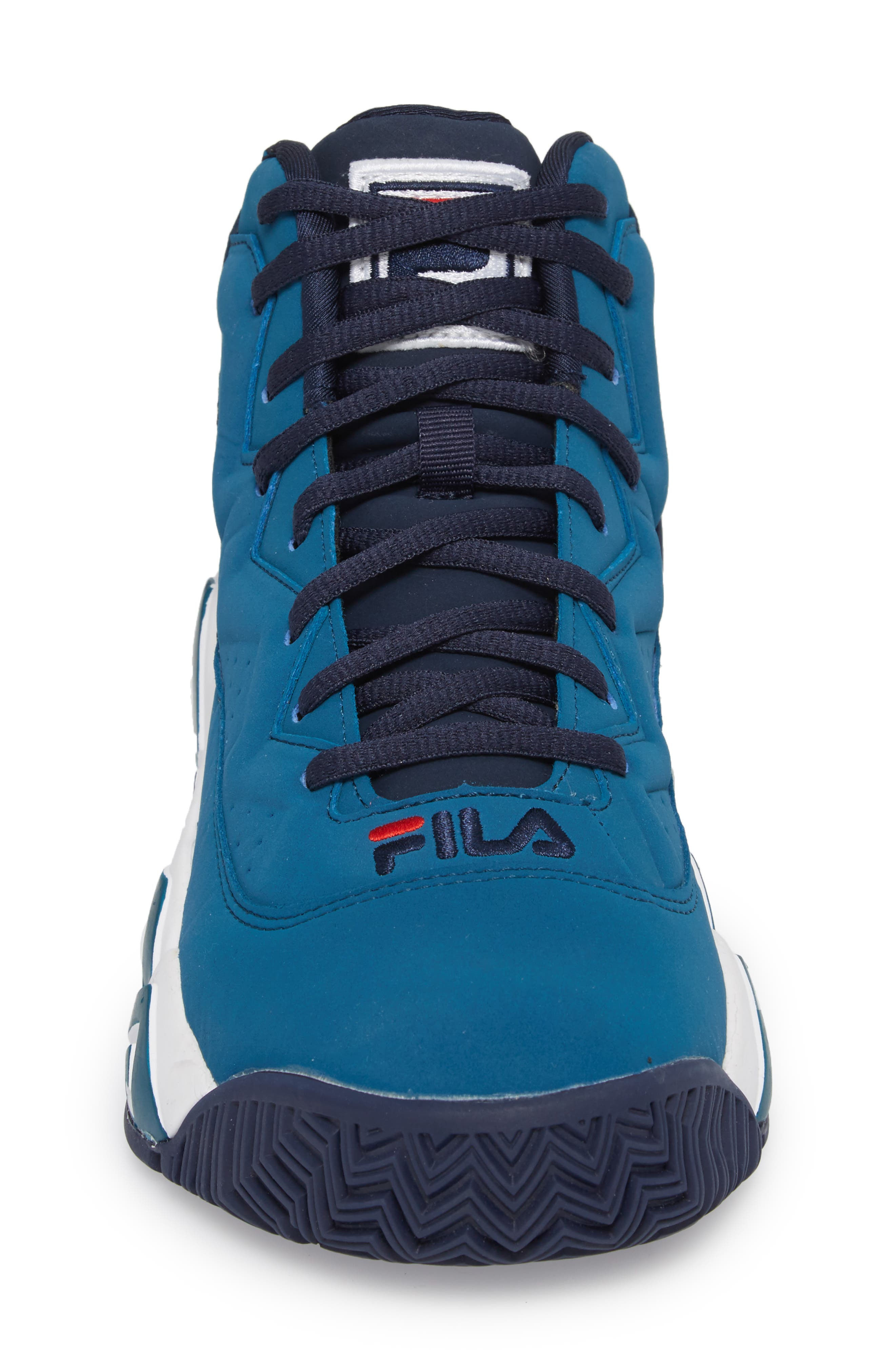 MB High Top Sneaker,                             Alternate thumbnail 4, color,                             INK BLUE/ FILA NAVY
