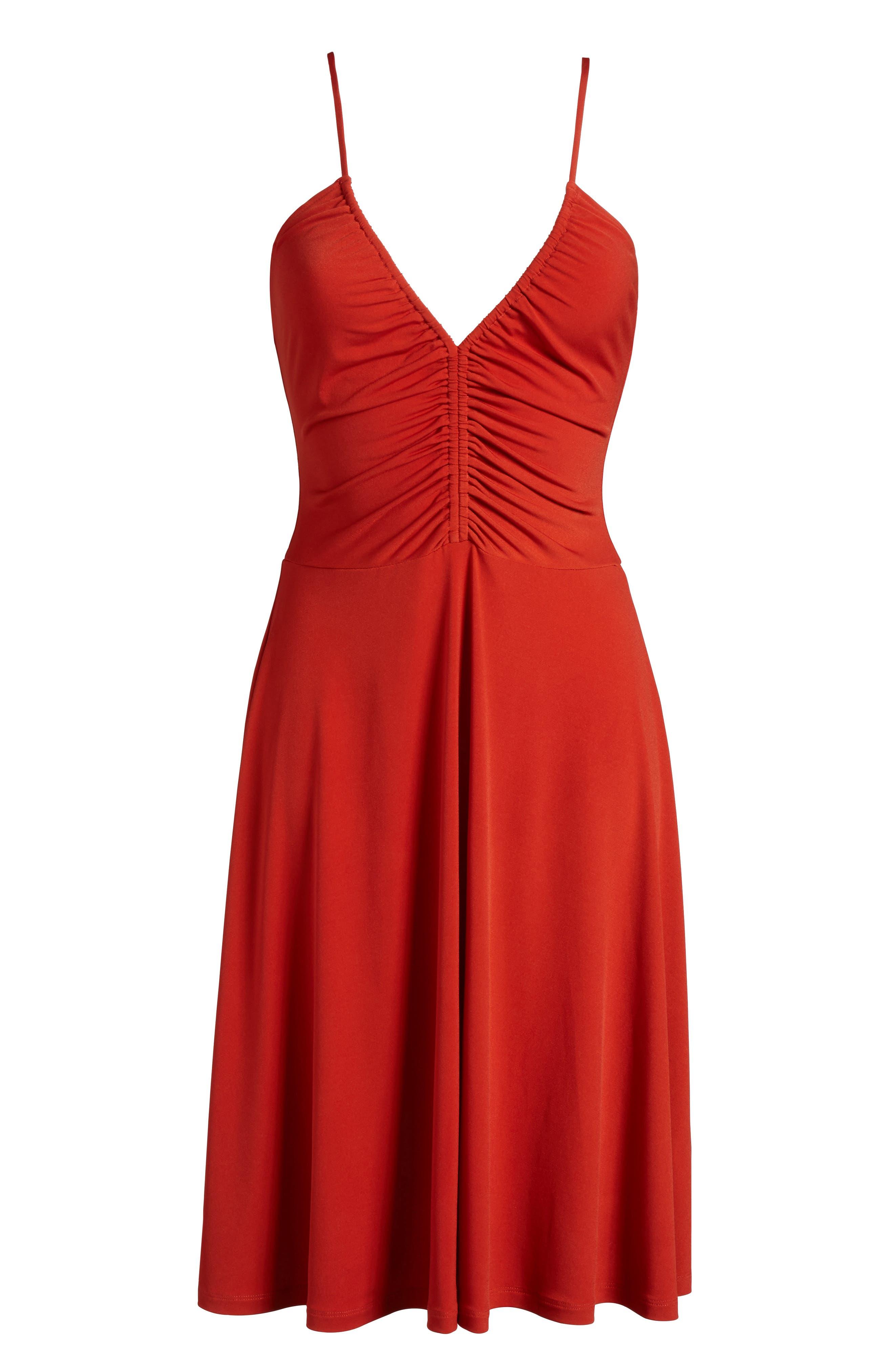 Cinch Front Dress,                             Alternate thumbnail 6, color,                             610