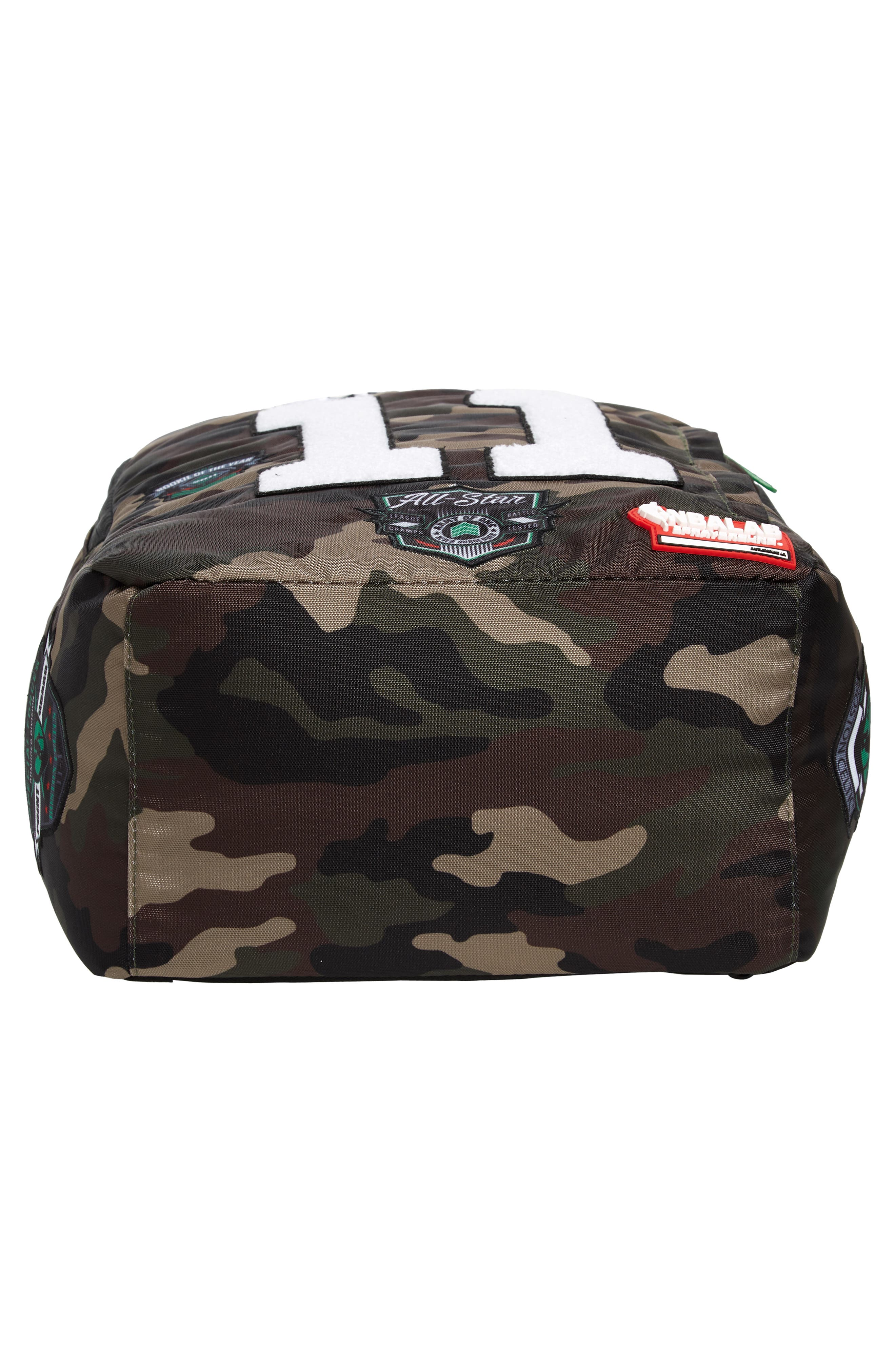 Kyrie Camo Backpack,                             Alternate thumbnail 6, color,                             CAMO