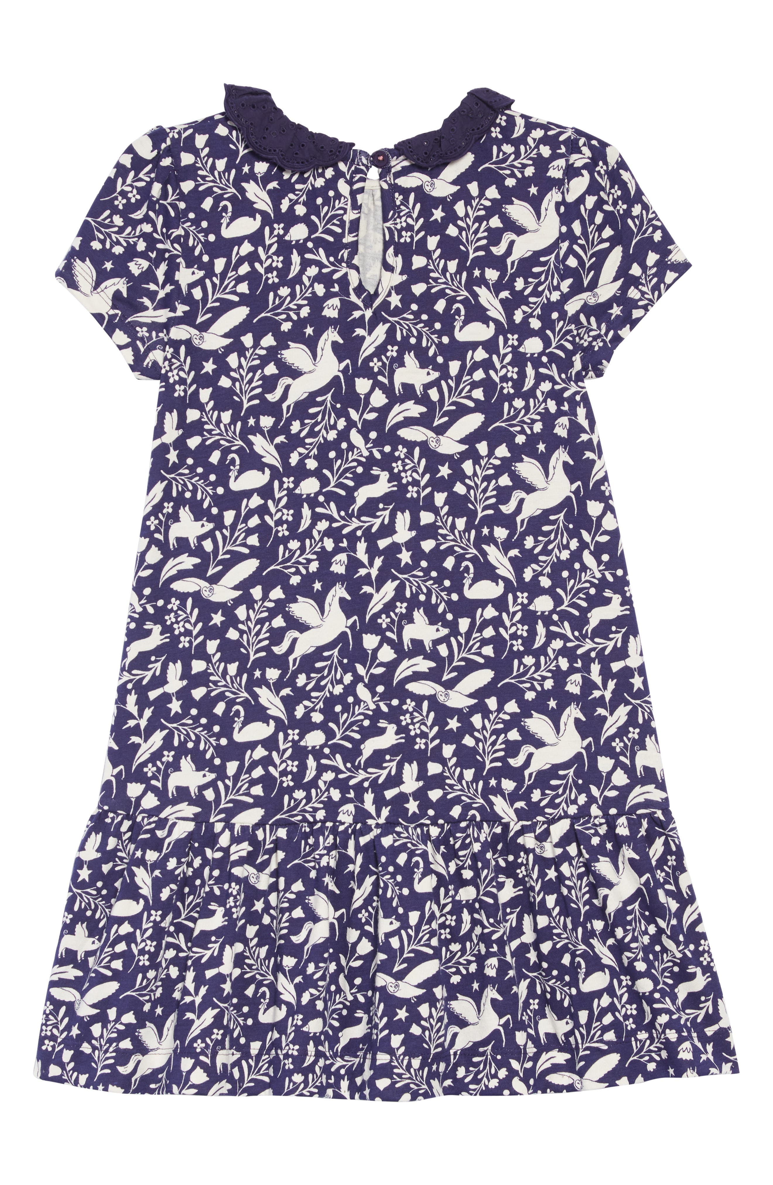 Print Jersey Dress,                             Alternate thumbnail 2, color,                             PRUSSIAN BLUE PECULIAR PETS