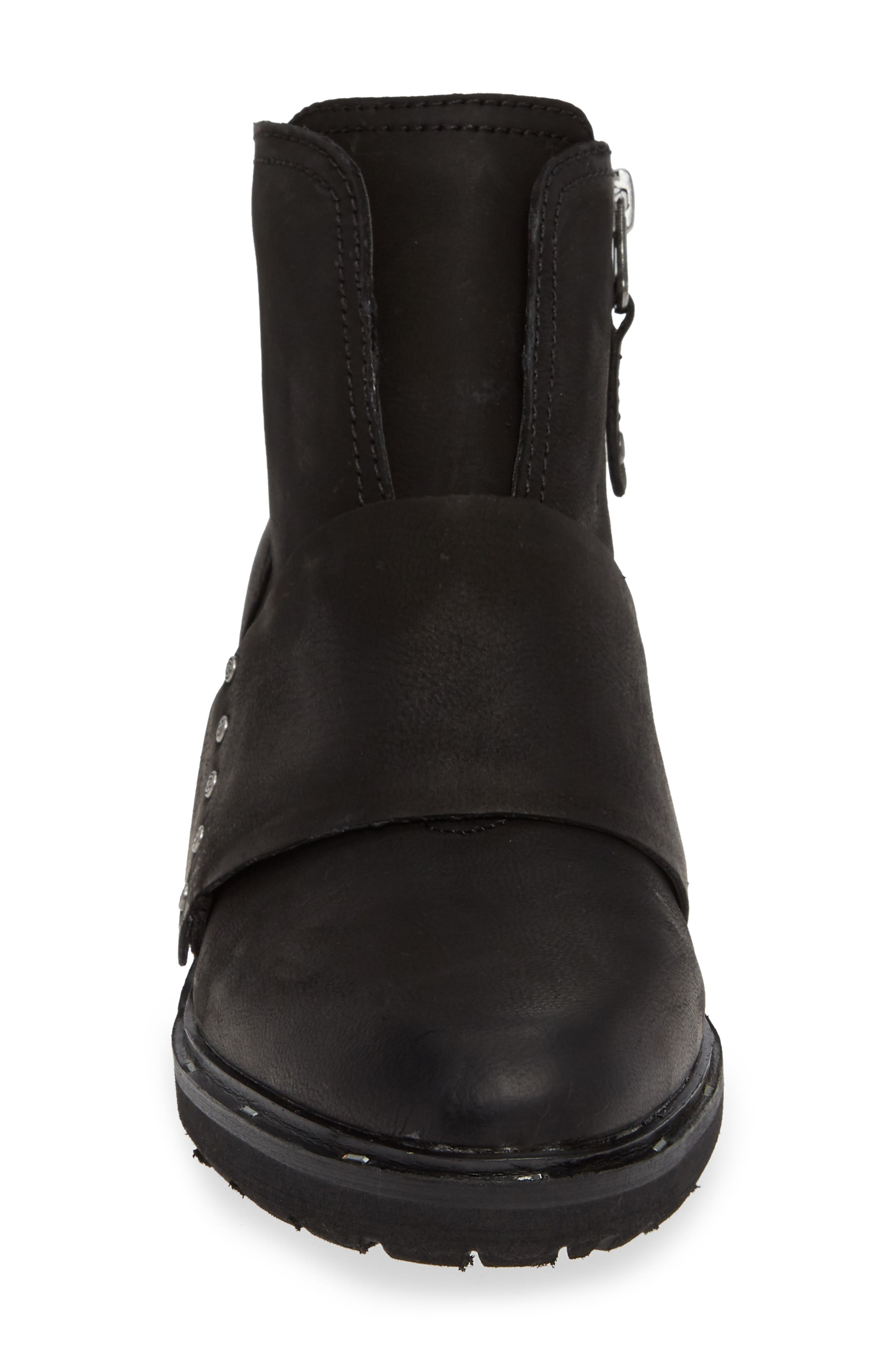 Frontage Bootie,                             Alternate thumbnail 4, color,                             BLACK LEATHER