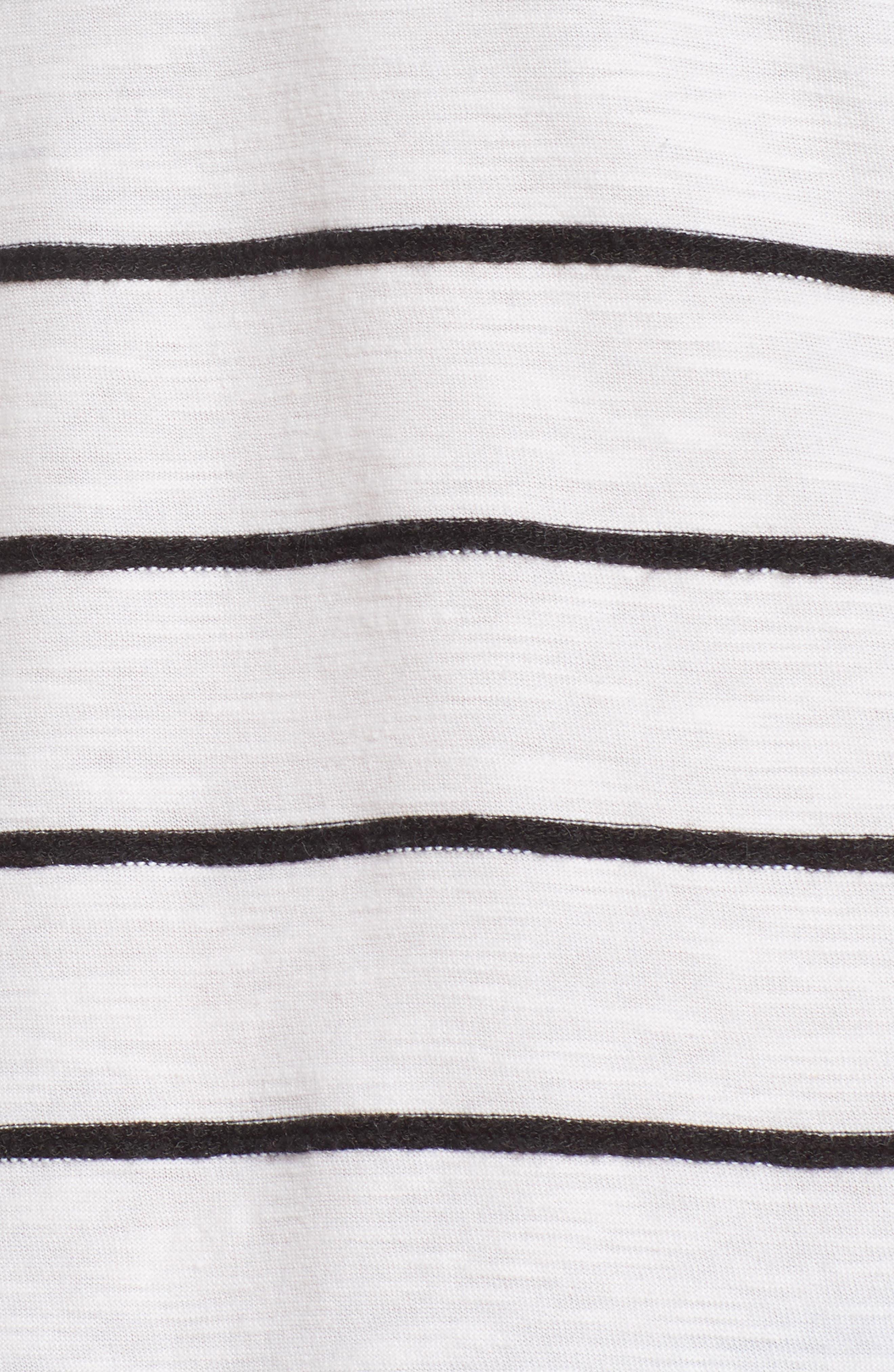 Side Tie Stripe Tee,                             Alternate thumbnail 14, color,