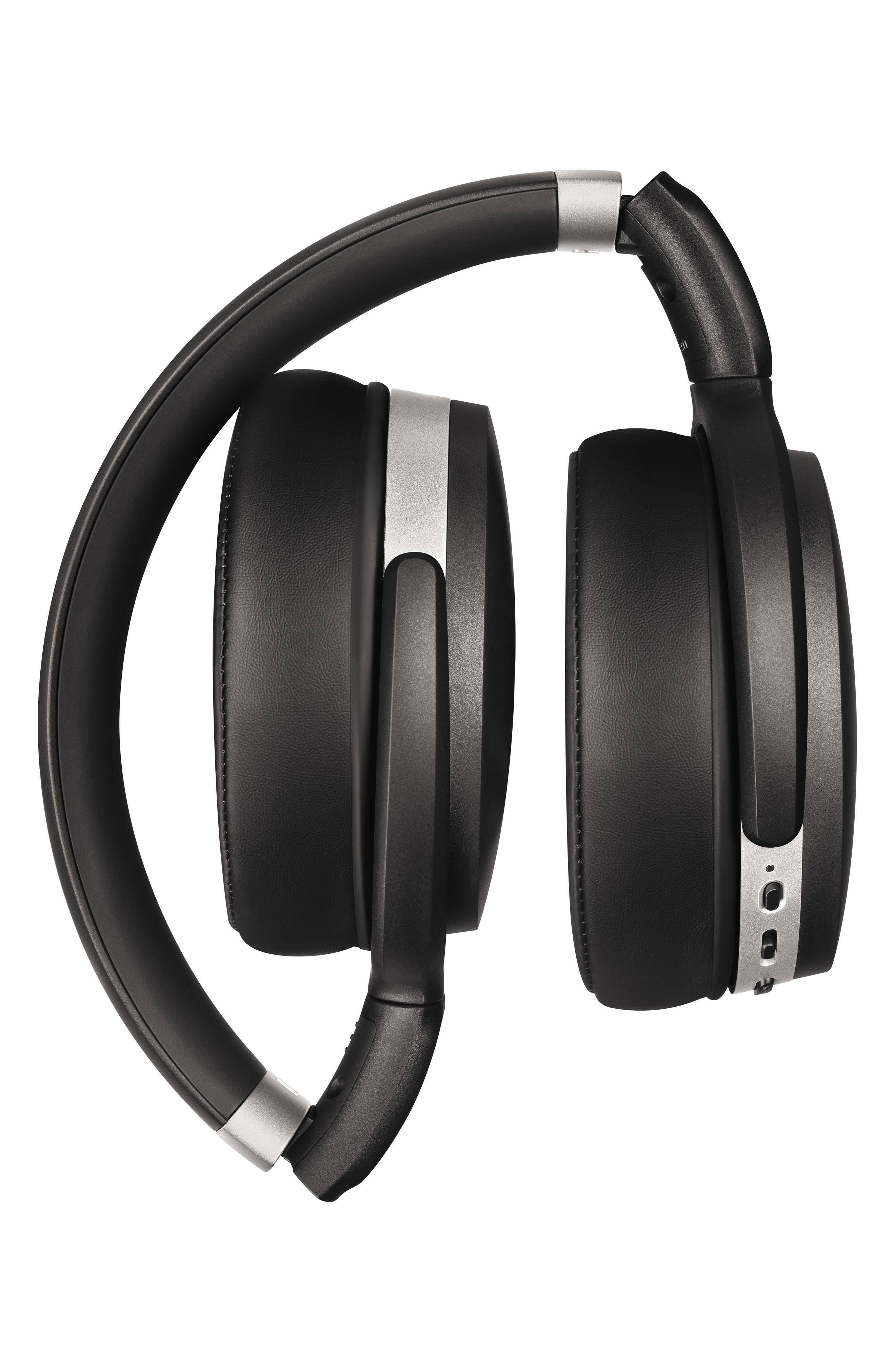 HD 4.50 Bluetooth<sup>®</sup> Noise Cancelling Headphones,                             Alternate thumbnail 3, color,                             BLACK/ SILVER