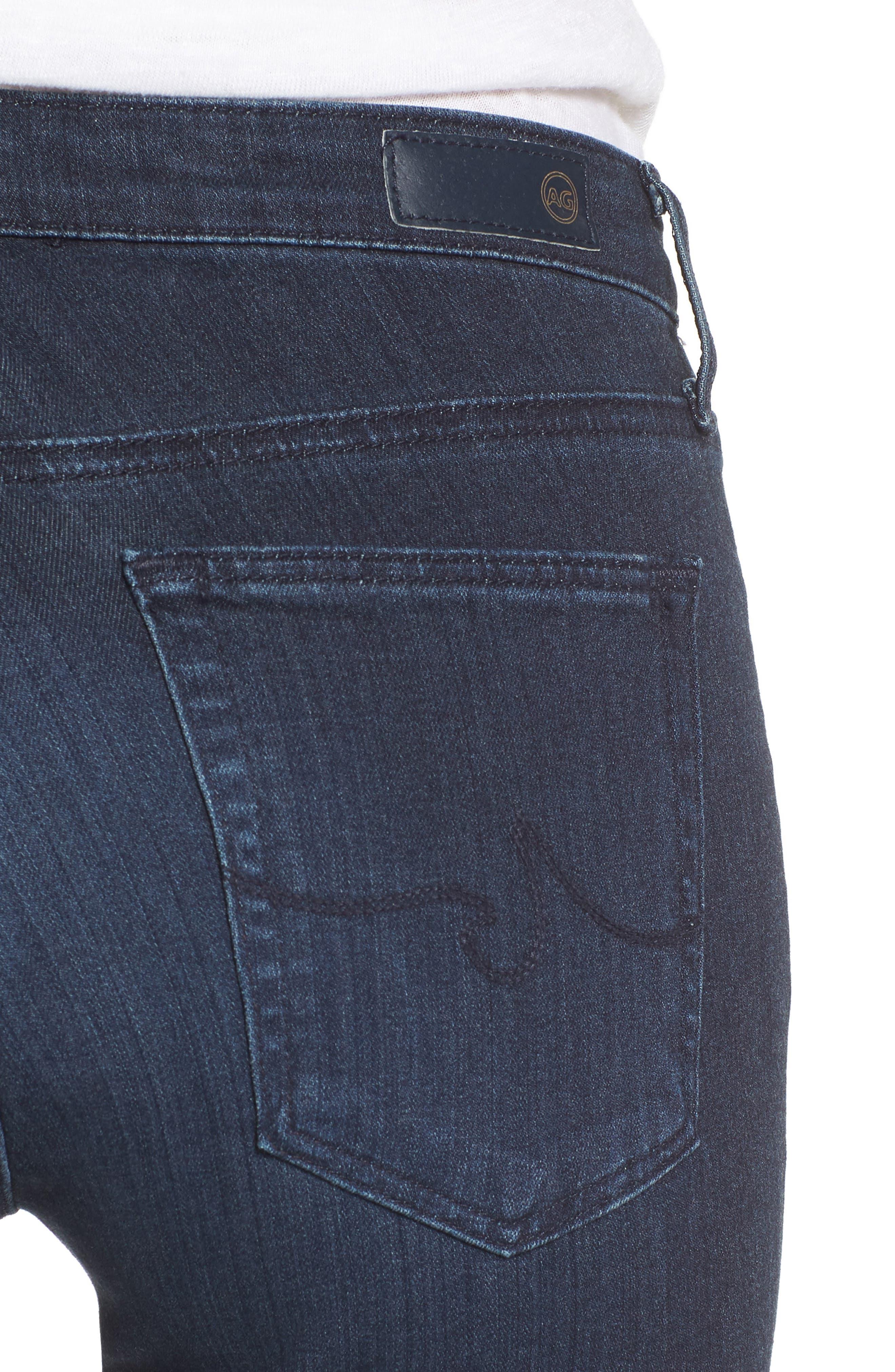 'The Prima' Mid Rise Cigarette Skinny Jeans,                             Alternate thumbnail 4, color,                             GALLANT