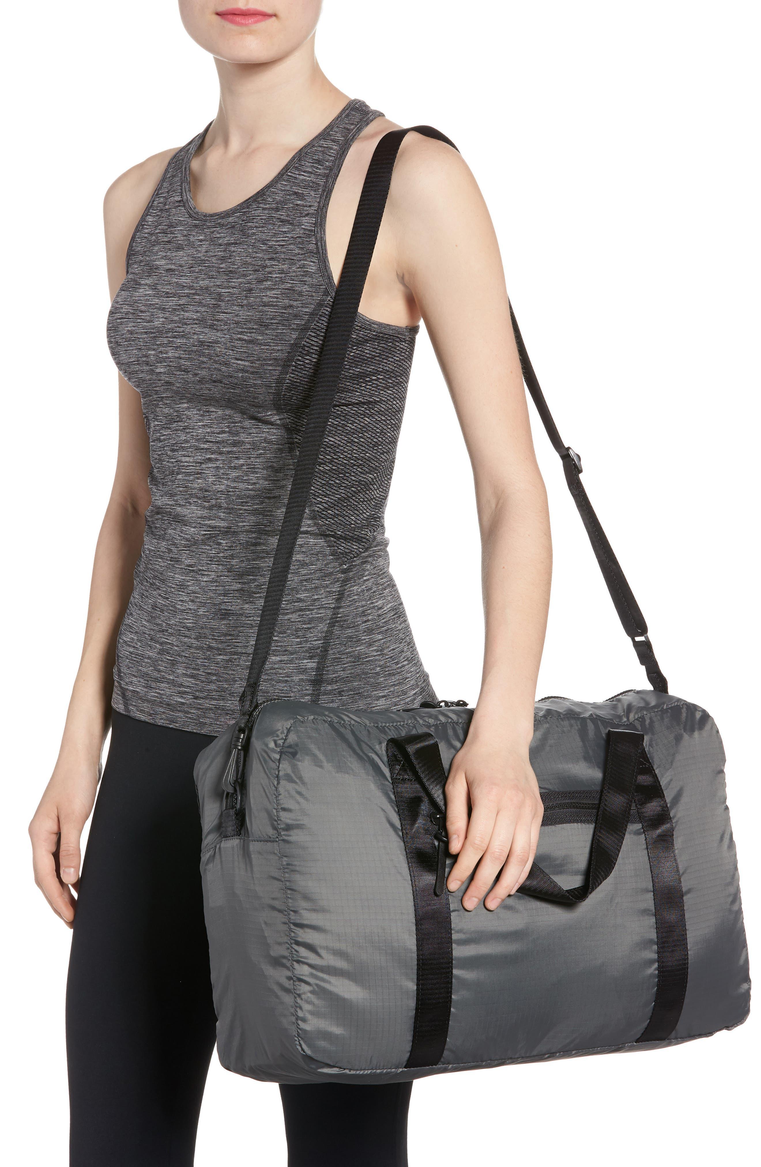 Packable Nylon Duffel Bag,                             Alternate thumbnail 5, color,