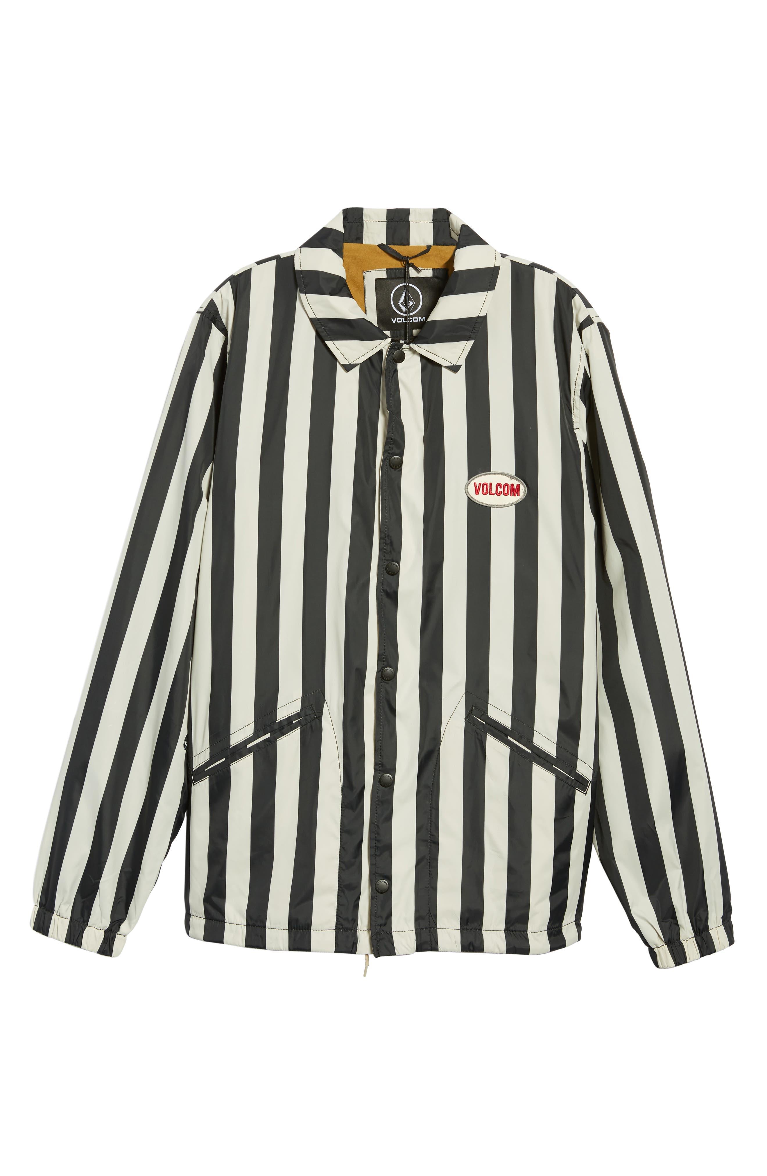Brews Coach's Jacket,                             Alternate thumbnail 3, color,                             BLACK WHITE