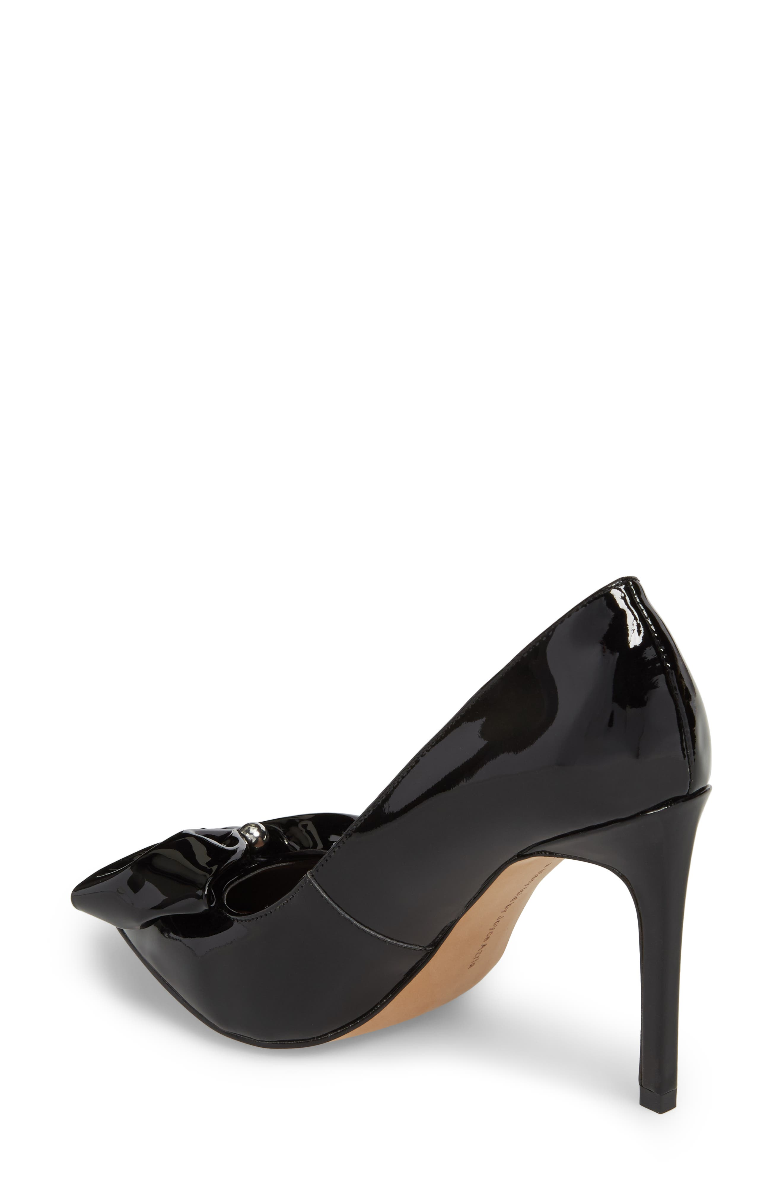 Bow Pointy Toe Pump,                             Alternate thumbnail 2, color,                             001