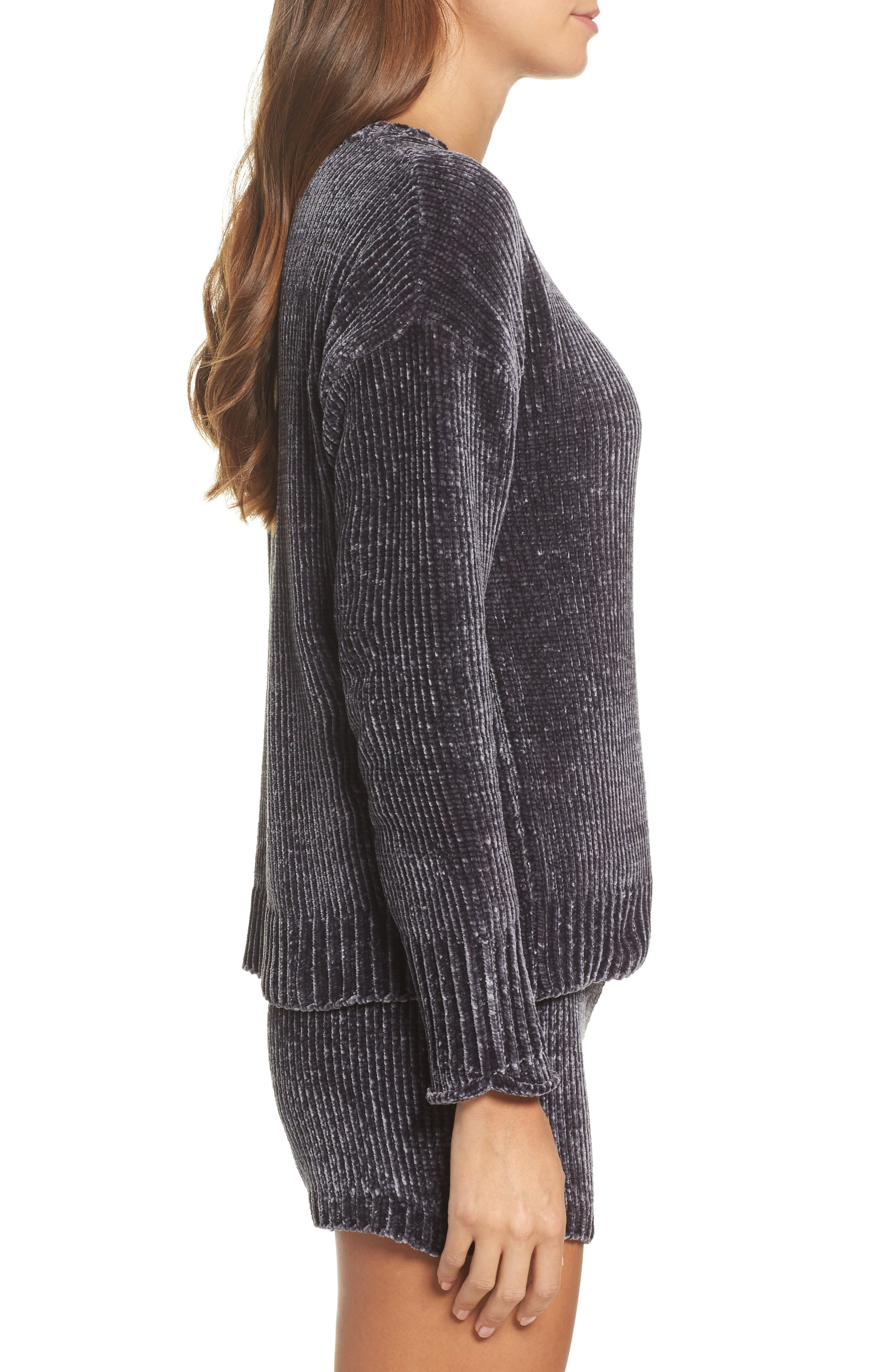 Chenille Sweater,                             Alternate thumbnail 3, color,                             030