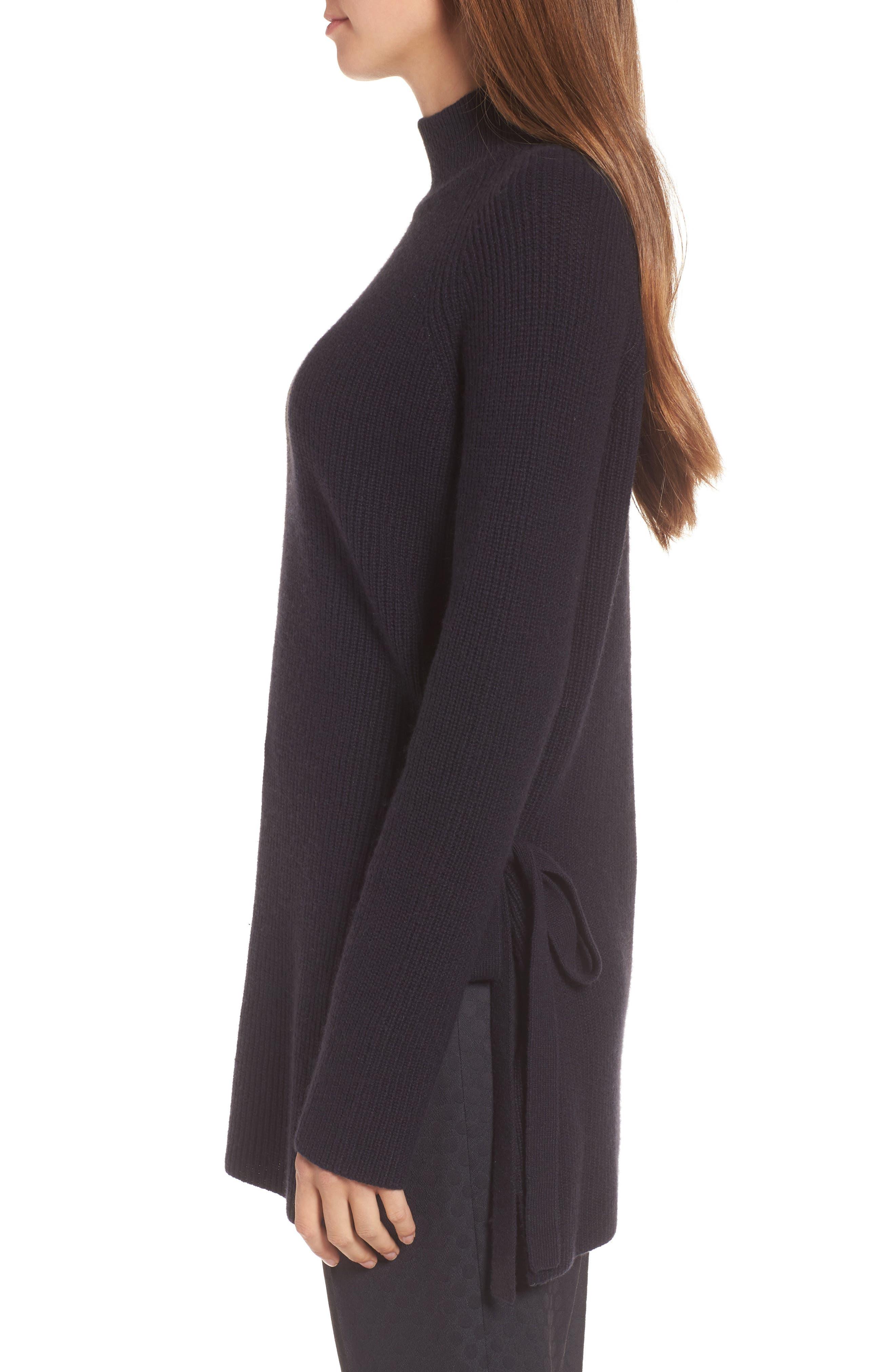 Filda Tie Side Wool Blend Sweater,                             Alternate thumbnail 3, color,                             480