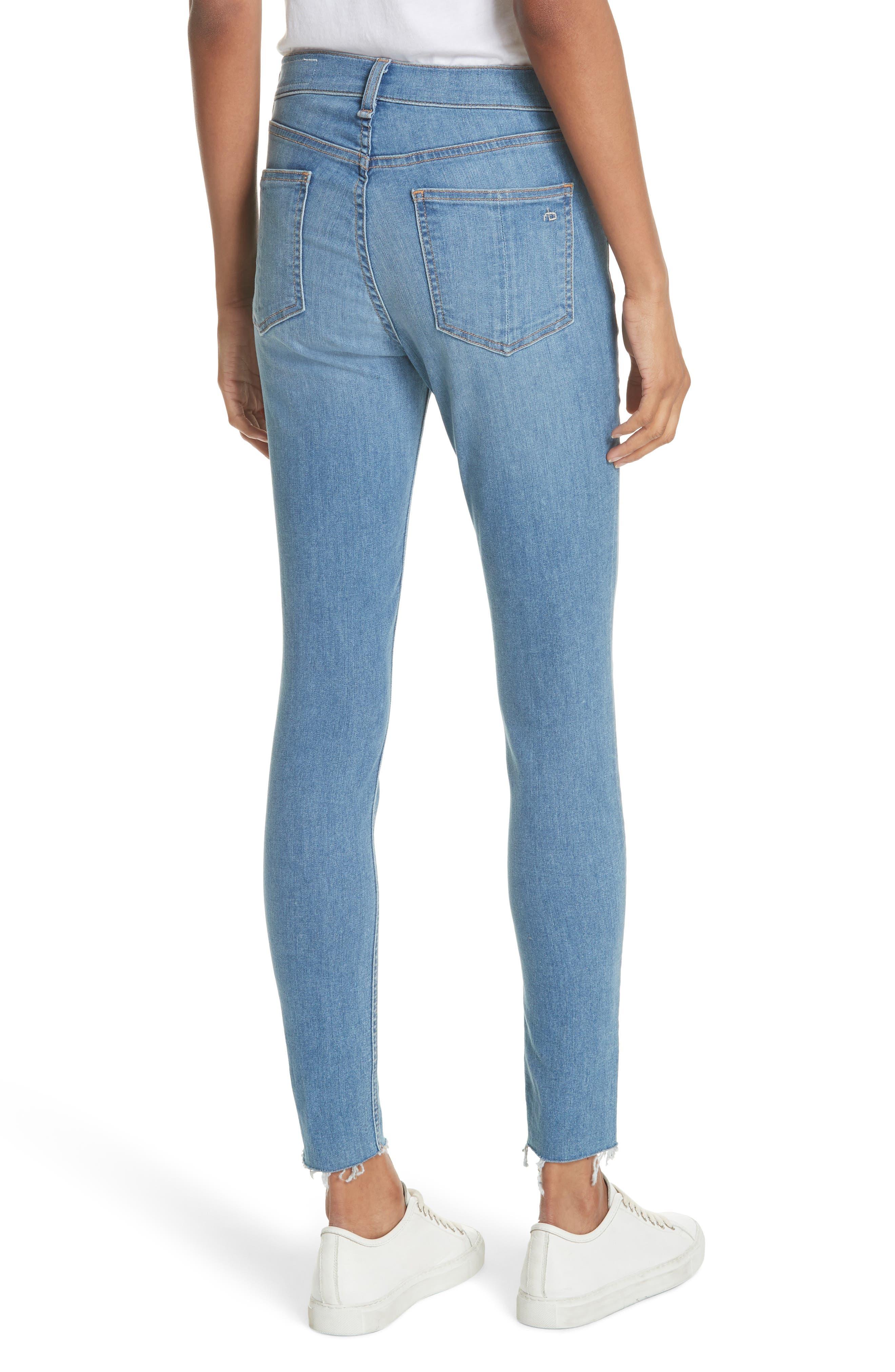 High Waist Skinny Jeans,                             Alternate thumbnail 2, color,