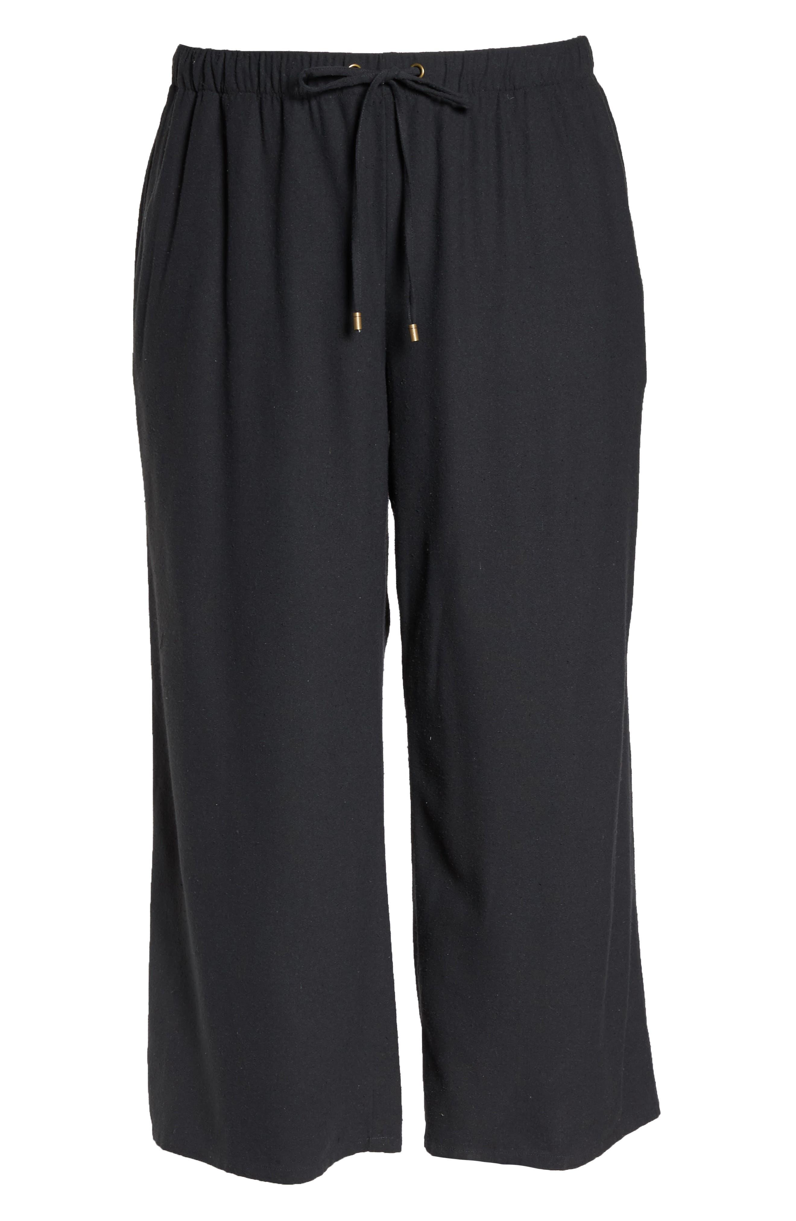 Silk Noil Wide Leg Pants,                             Alternate thumbnail 7, color,                             025