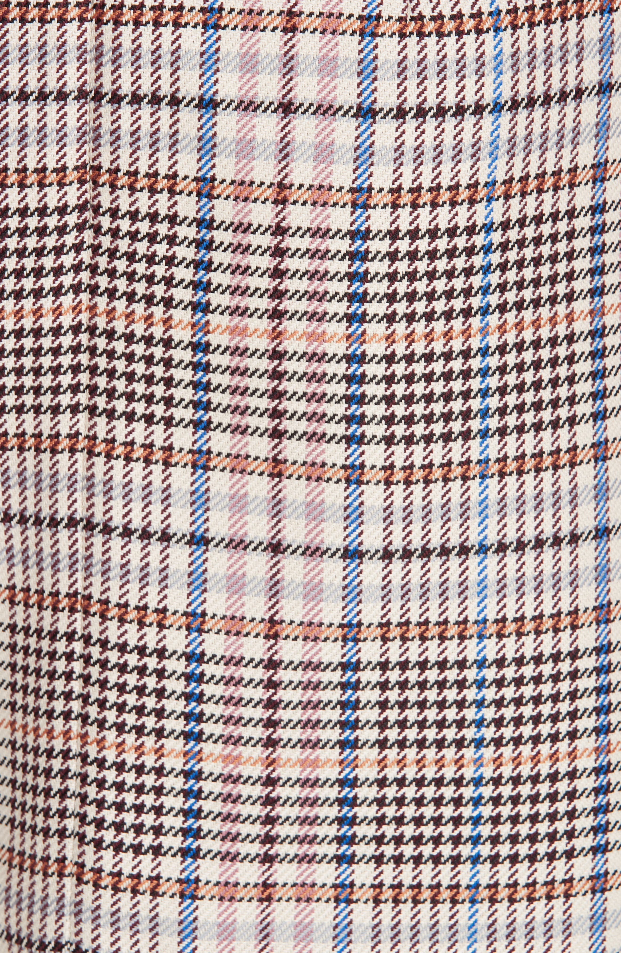 Plaid Miniskirt,                             Alternate thumbnail 5, color,                             650
