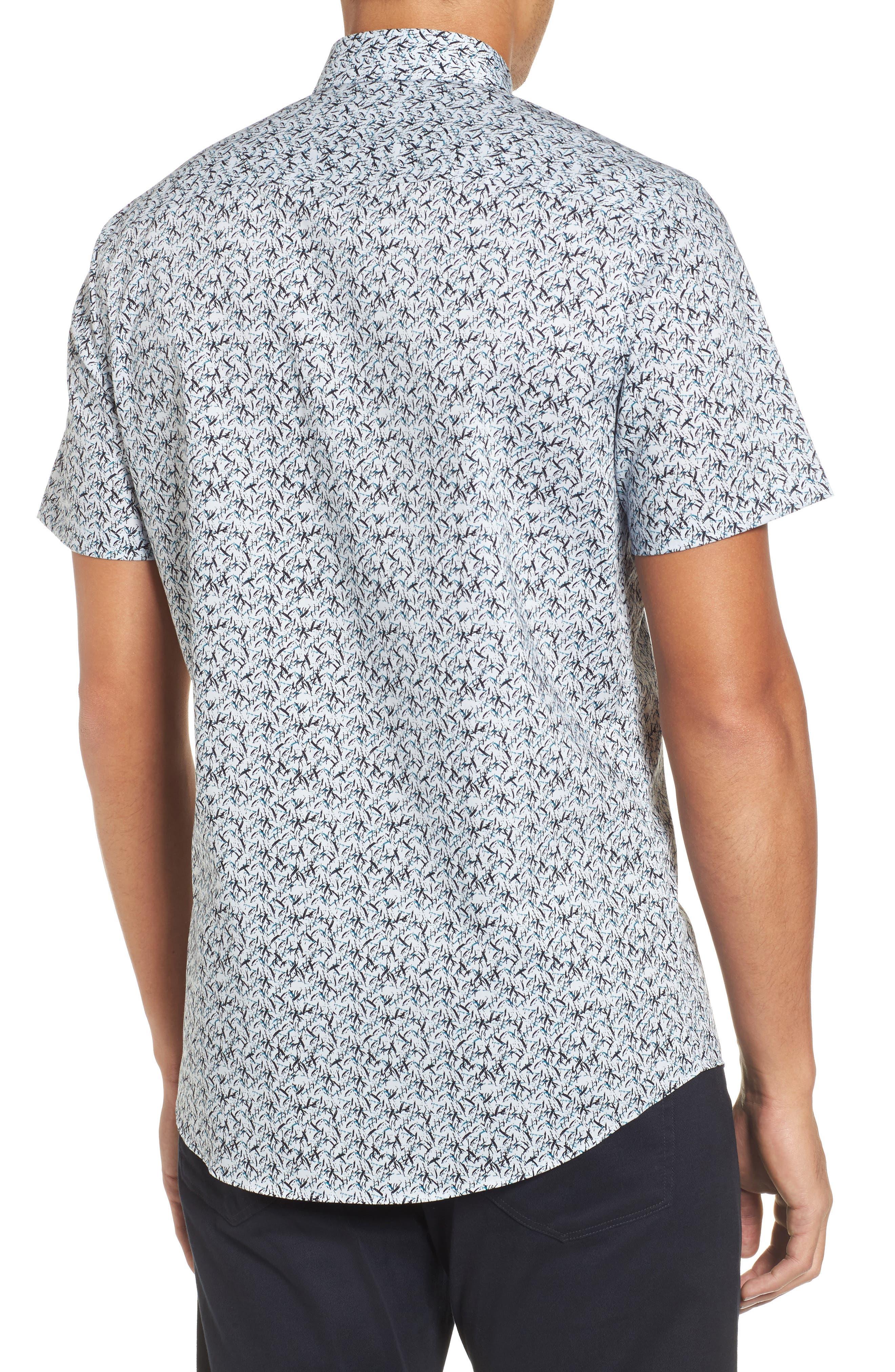 Slim Fit No-Iron Print Sport Shirt,                             Alternate thumbnail 2, color,                             450