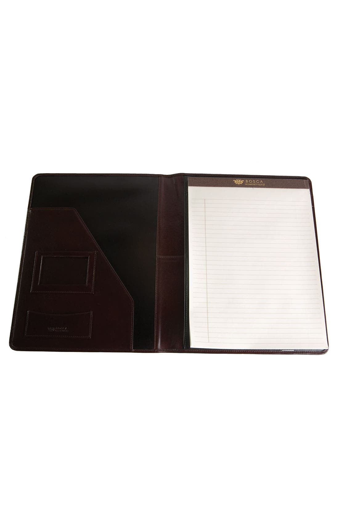 Leather Letter Pad Cover,                             Alternate thumbnail 2, color,                             BROWN OLD LEATHER