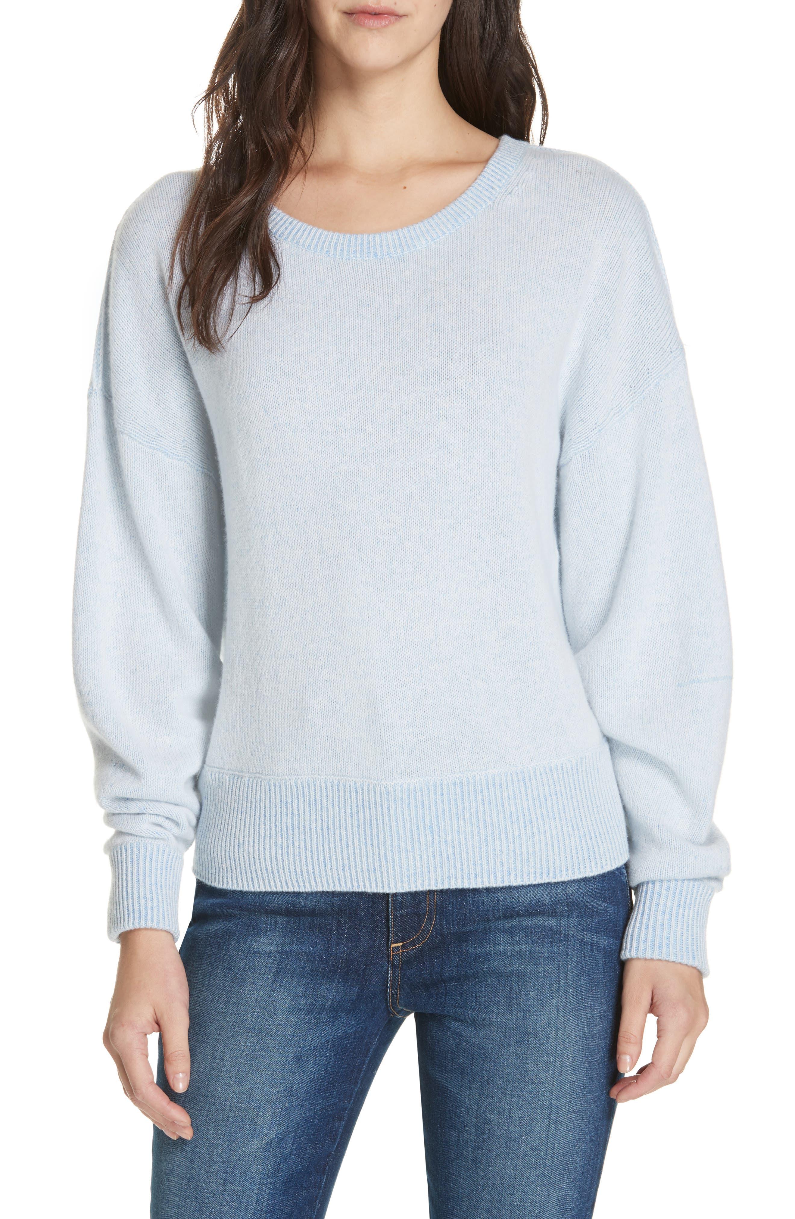 Alta Cashmere Sweater,                             Main thumbnail 1, color,                             SKYLAR BLUE COMBO