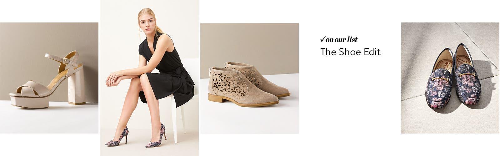 Women's heels, women's boots, women's sandals and women's flats.
