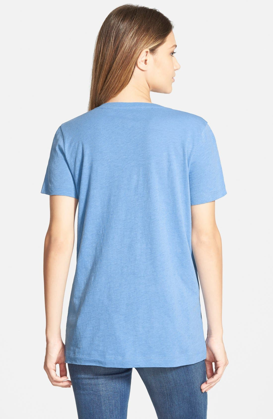 Whisper Cotton V-Neck Pocket Tee,                             Alternate thumbnail 107, color,