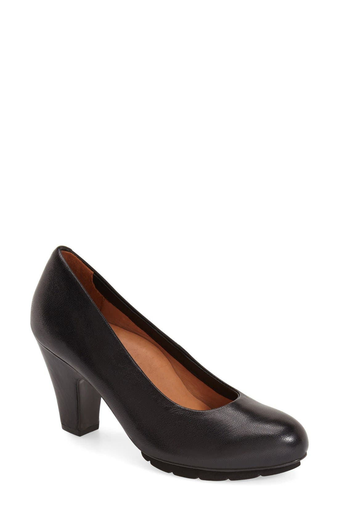 L'Amour des Pieds 'Fabienne' Round Toe Pump,                             Main thumbnail 1, color,                             001