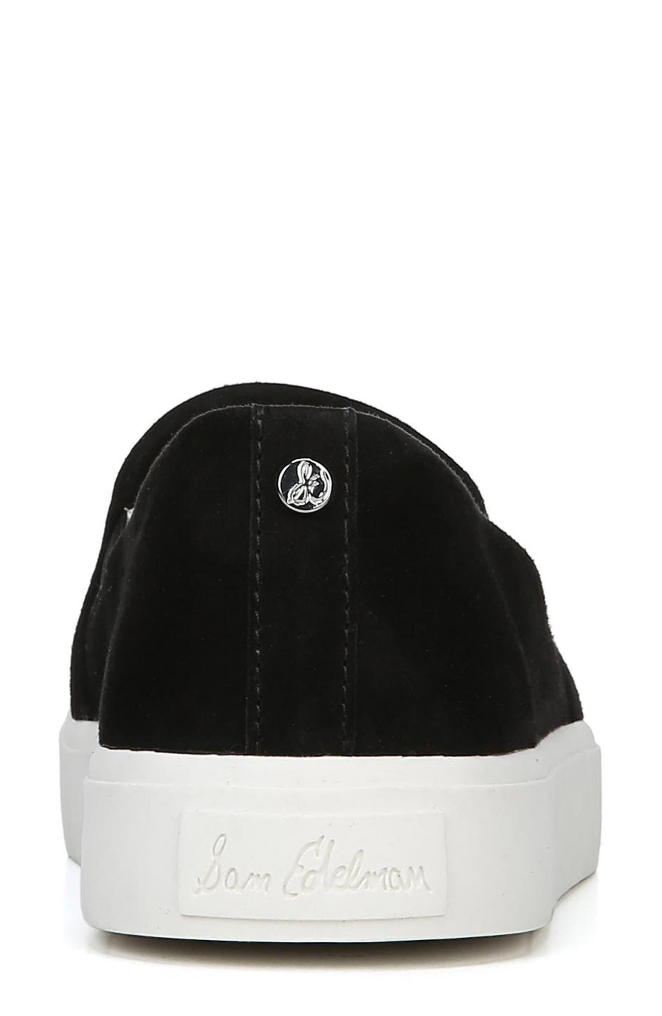 Elton Slip-On Sneaker,                             Alternate thumbnail 7, color,                             BLACK SUEDE LEATHER