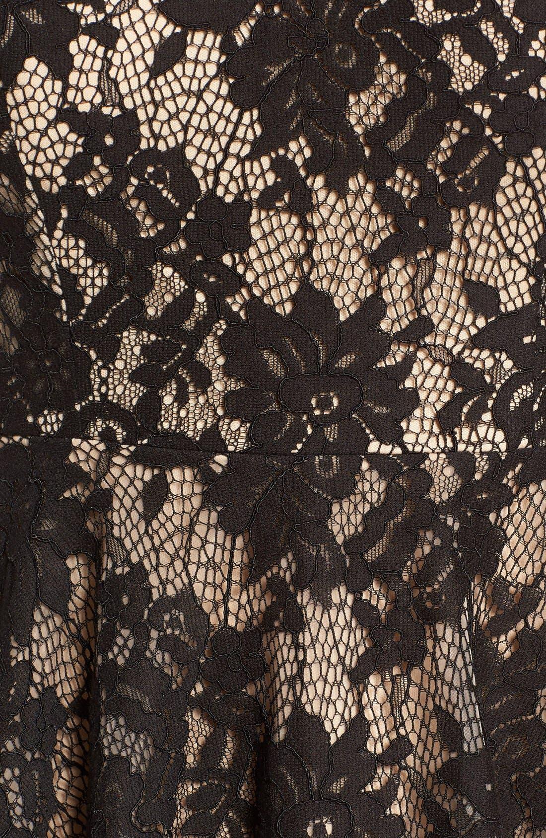 Lace Off the Shoulder Fit & Flare Dress,                             Alternate thumbnail 10, color,
