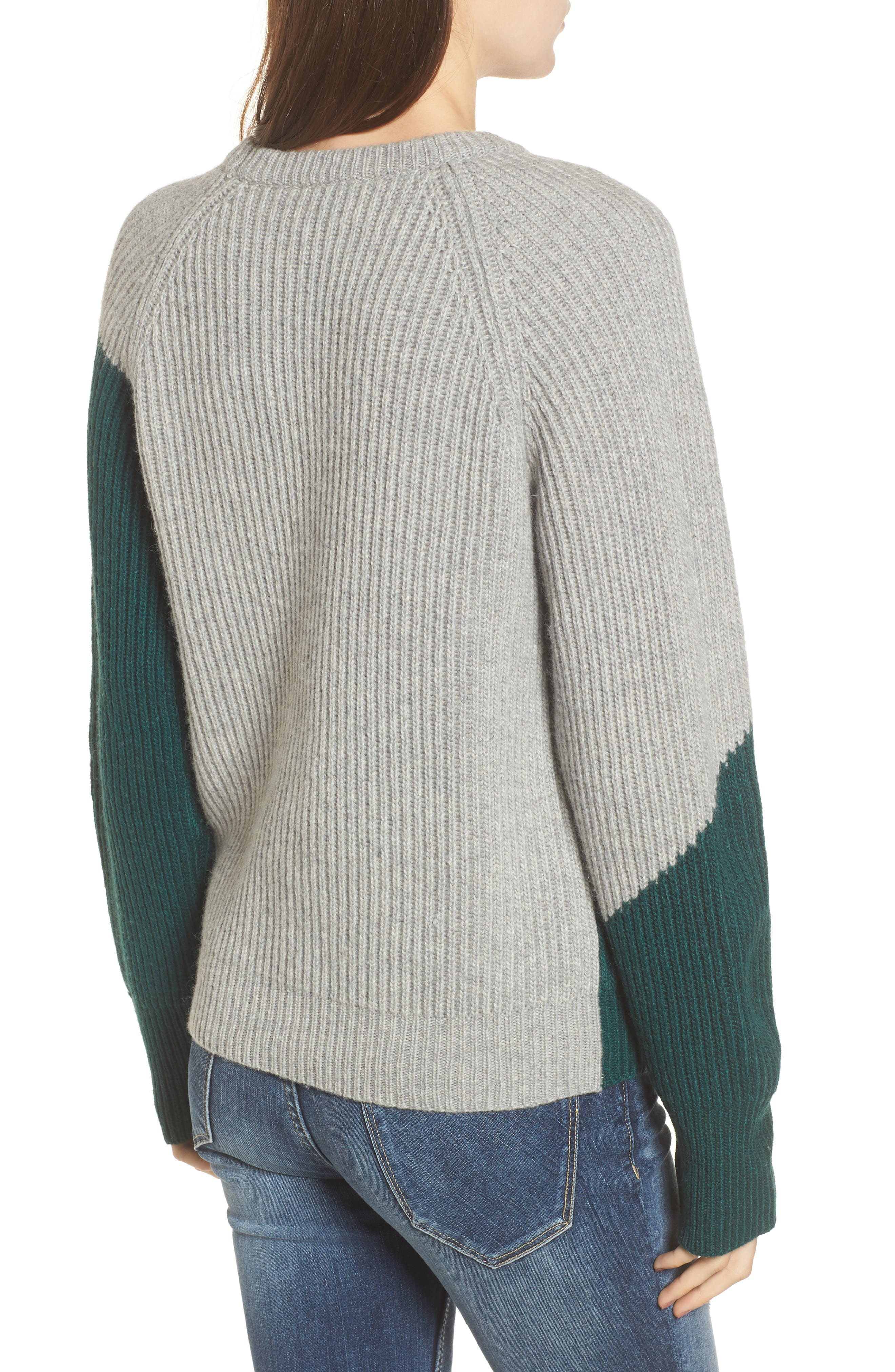 Unbalanced Pattern Wool Blend Sweater,                             Alternate thumbnail 2, color,                             313