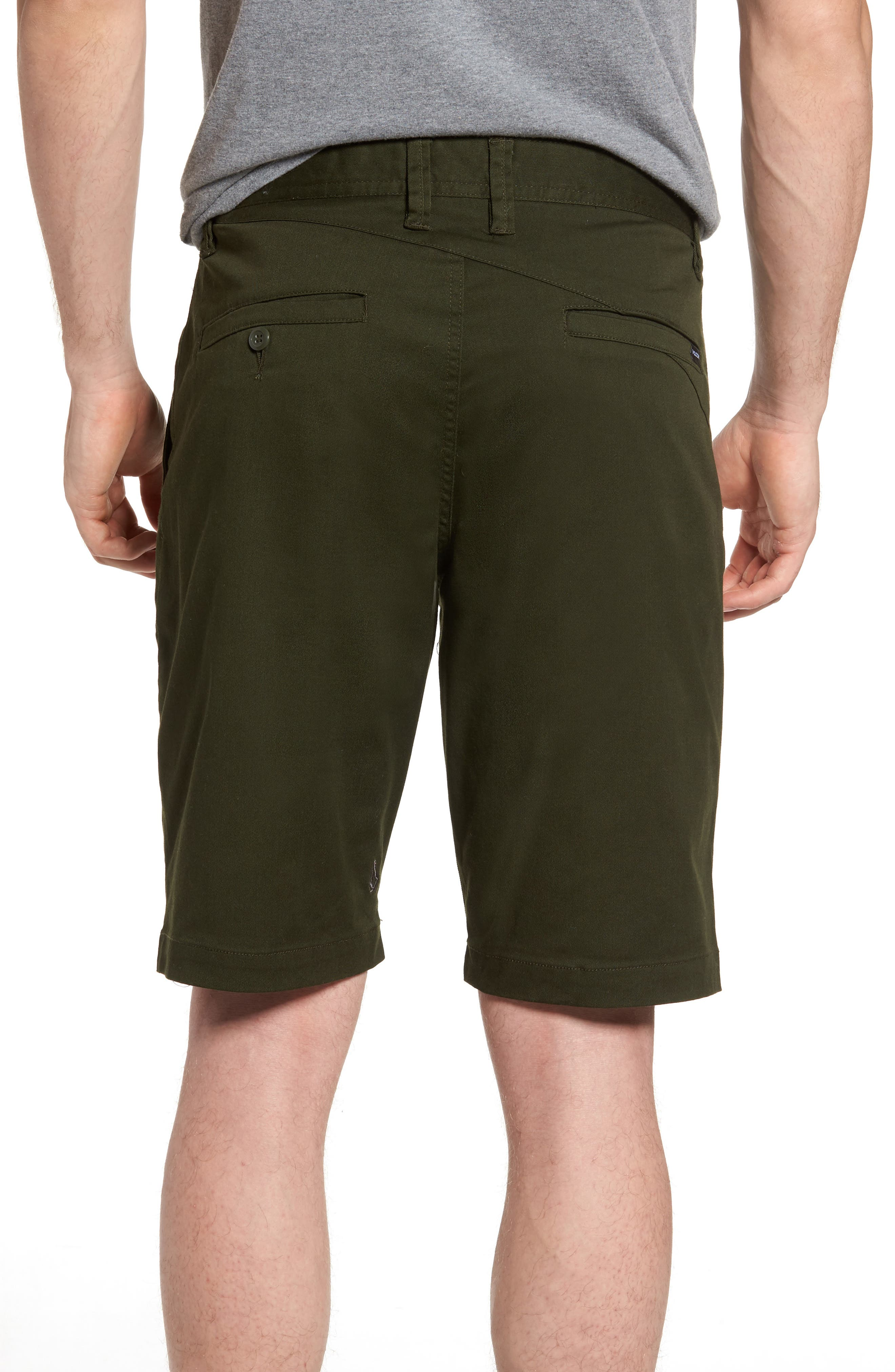 'Modern' Stretch Chino Shorts,                             Alternate thumbnail 13, color,