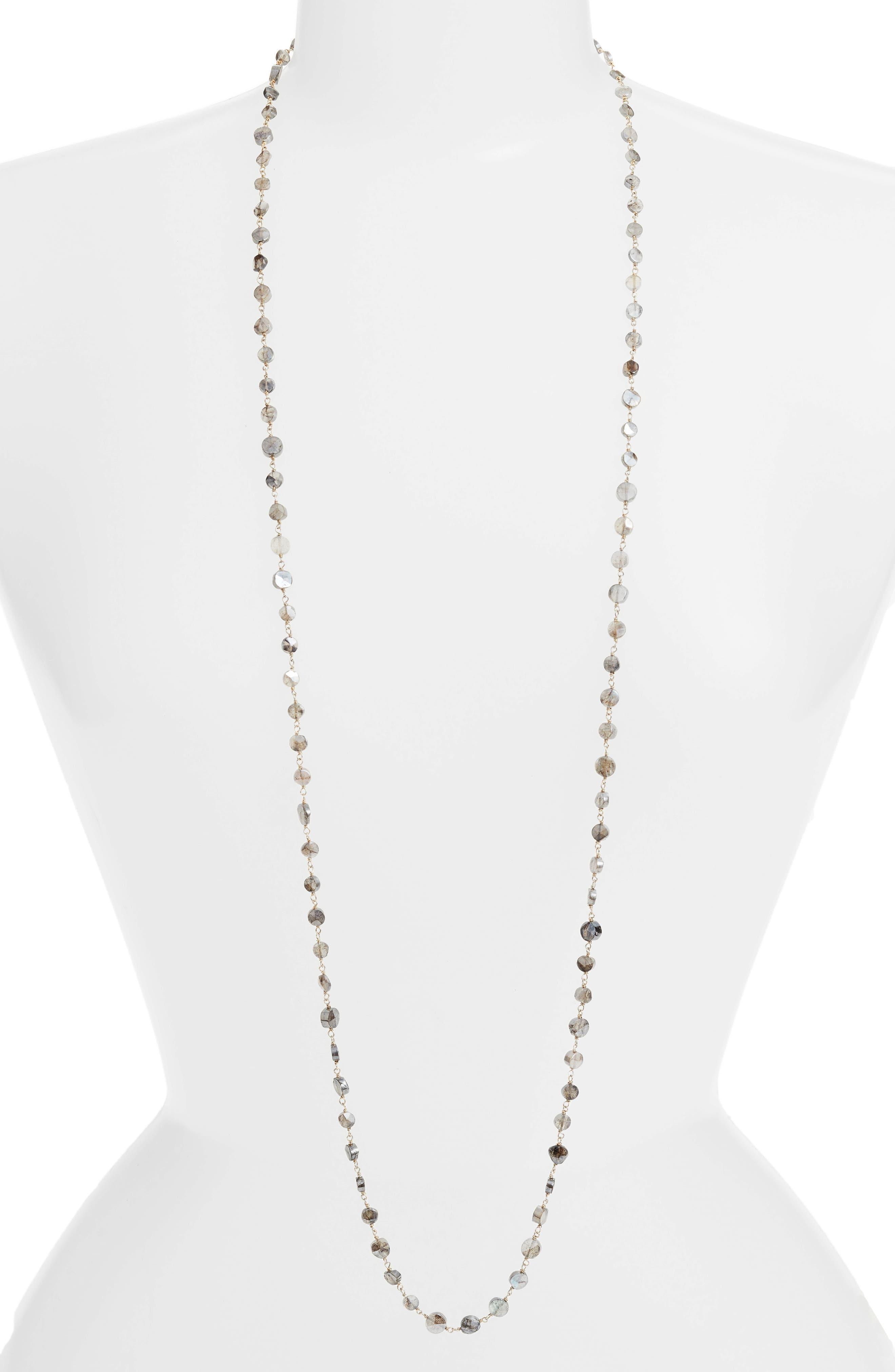 Diana Coin Necklace,                         Main,                         color, MYSTIC LABRADORITE/ GOLD