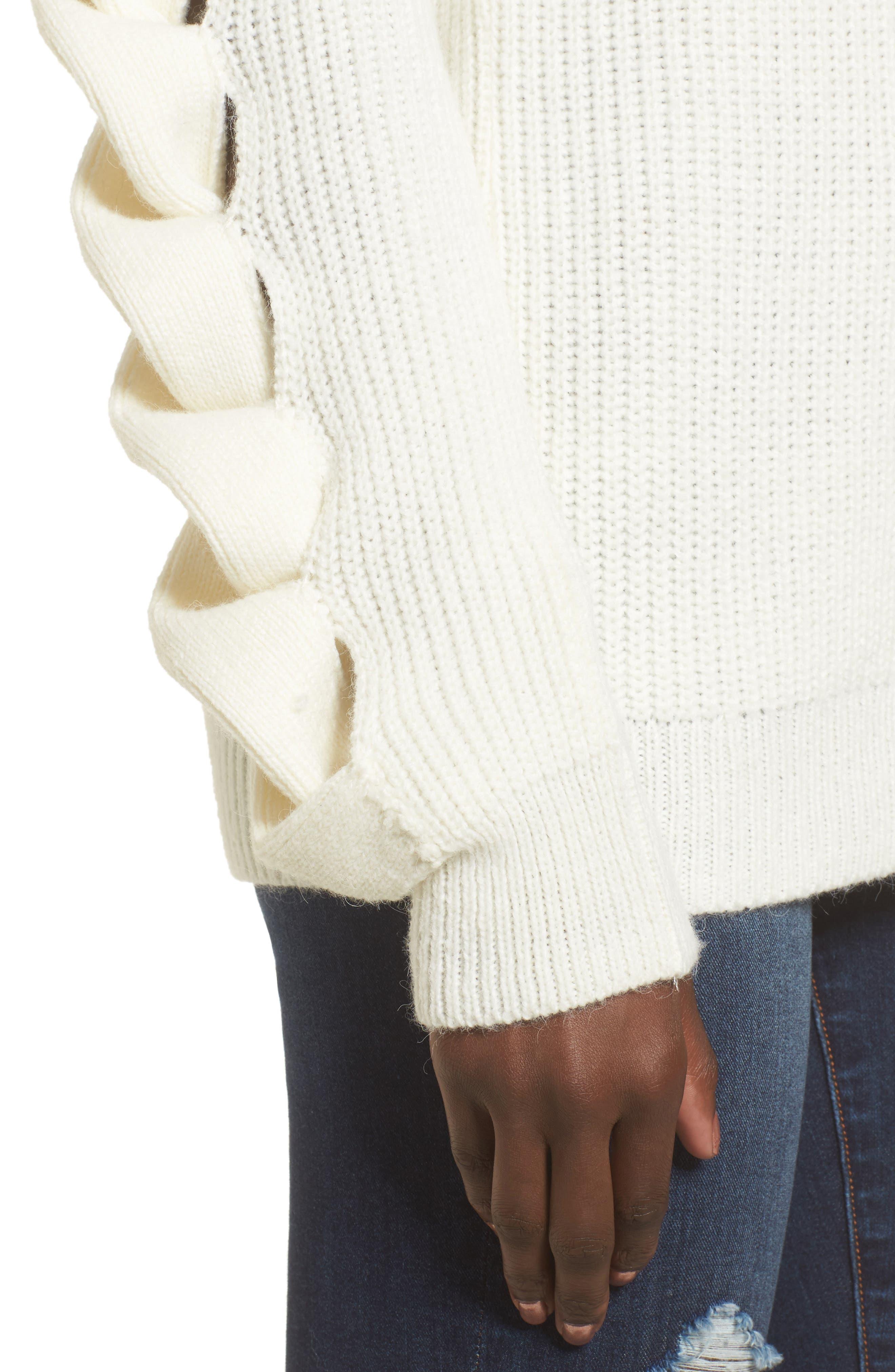 Twist Sleeve Sweater,                             Alternate thumbnail 12, color,
