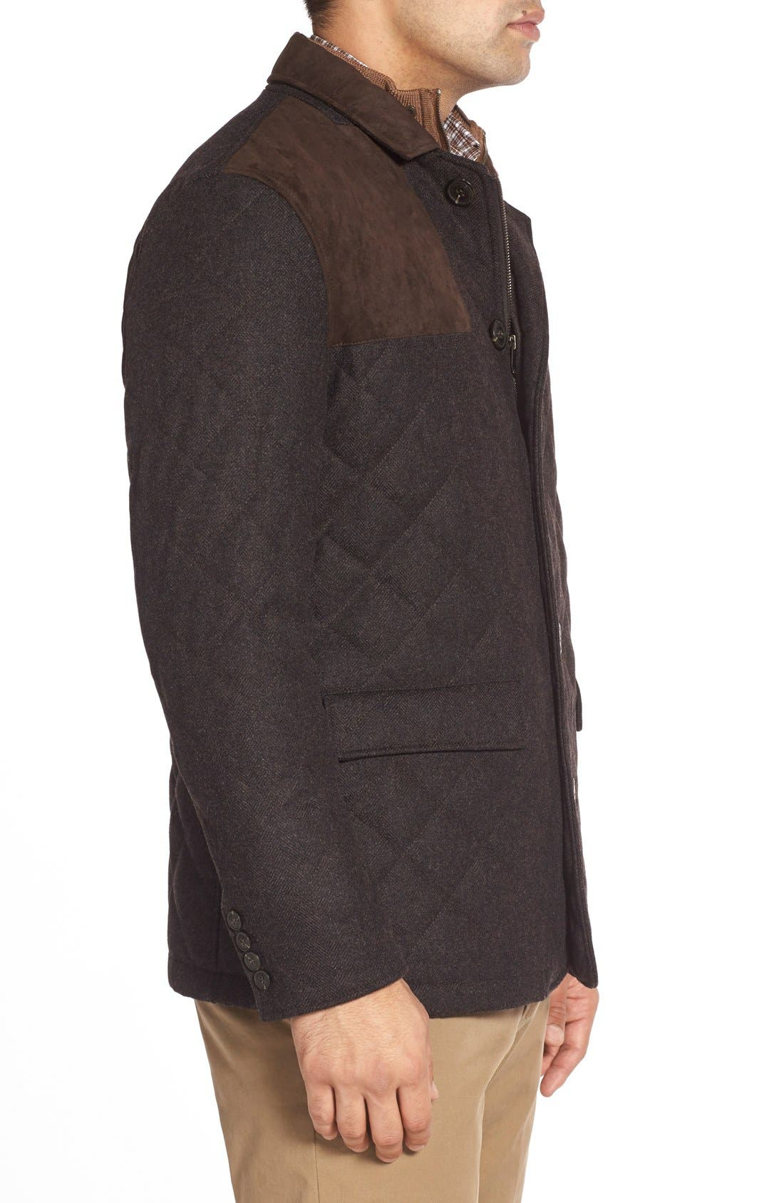 'Shooter' Wool Blend Quilted Jacket,                             Alternate thumbnail 5, color,