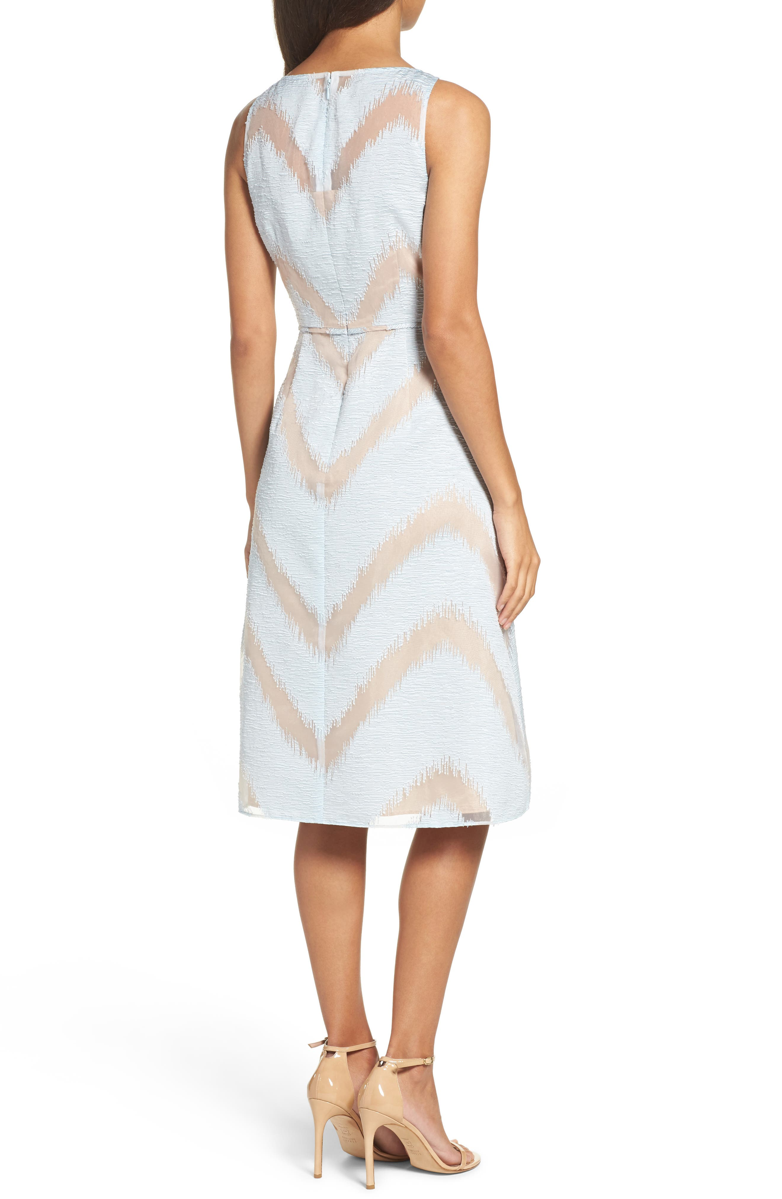 Jacquard Midi Dress,                             Alternate thumbnail 2, color,